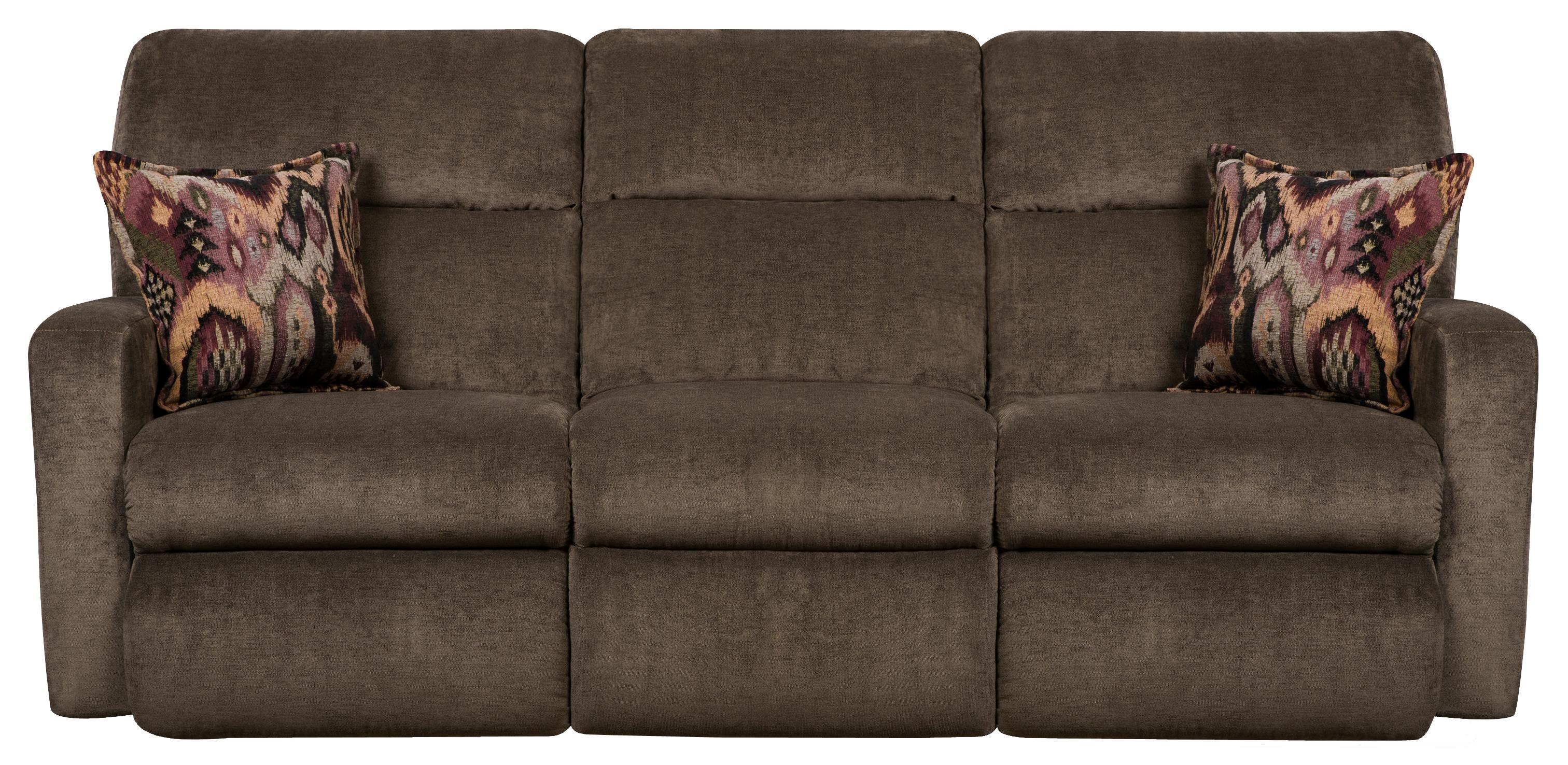 Contemporary Styled Double Reclining Sofa for Family Rooms by