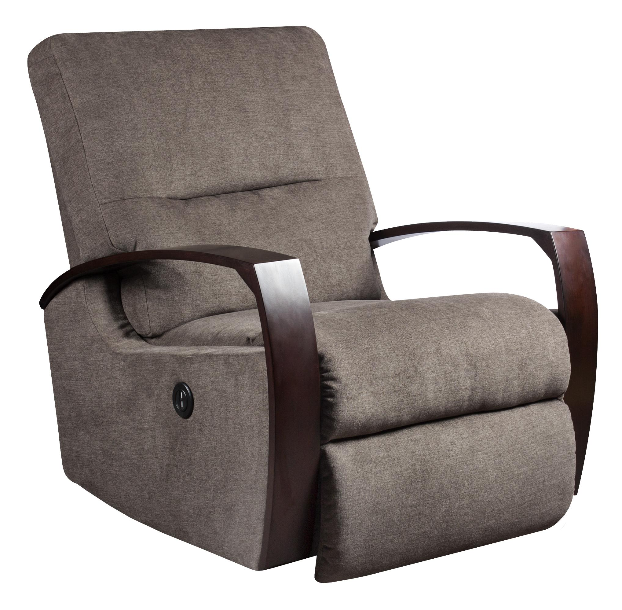 Rocker recliner with wooden arms by southern motion wolf and gardiner wolf furniture - Stylish rocker recliner ...