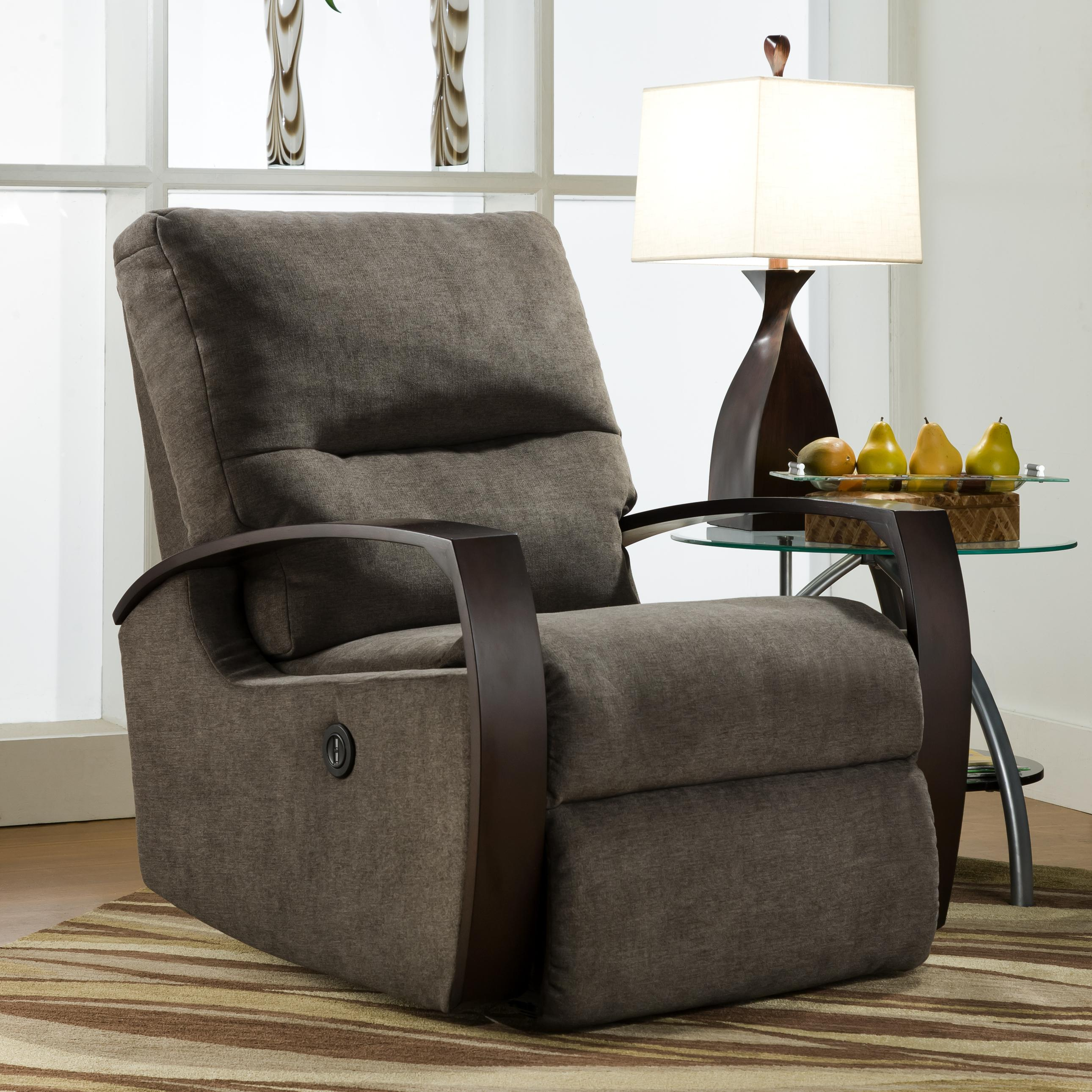 Rocker Recliner with Wooden Arms & Rocker Recliner with Wooden Arms by Southern Motion | Wolf and ... islam-shia.org