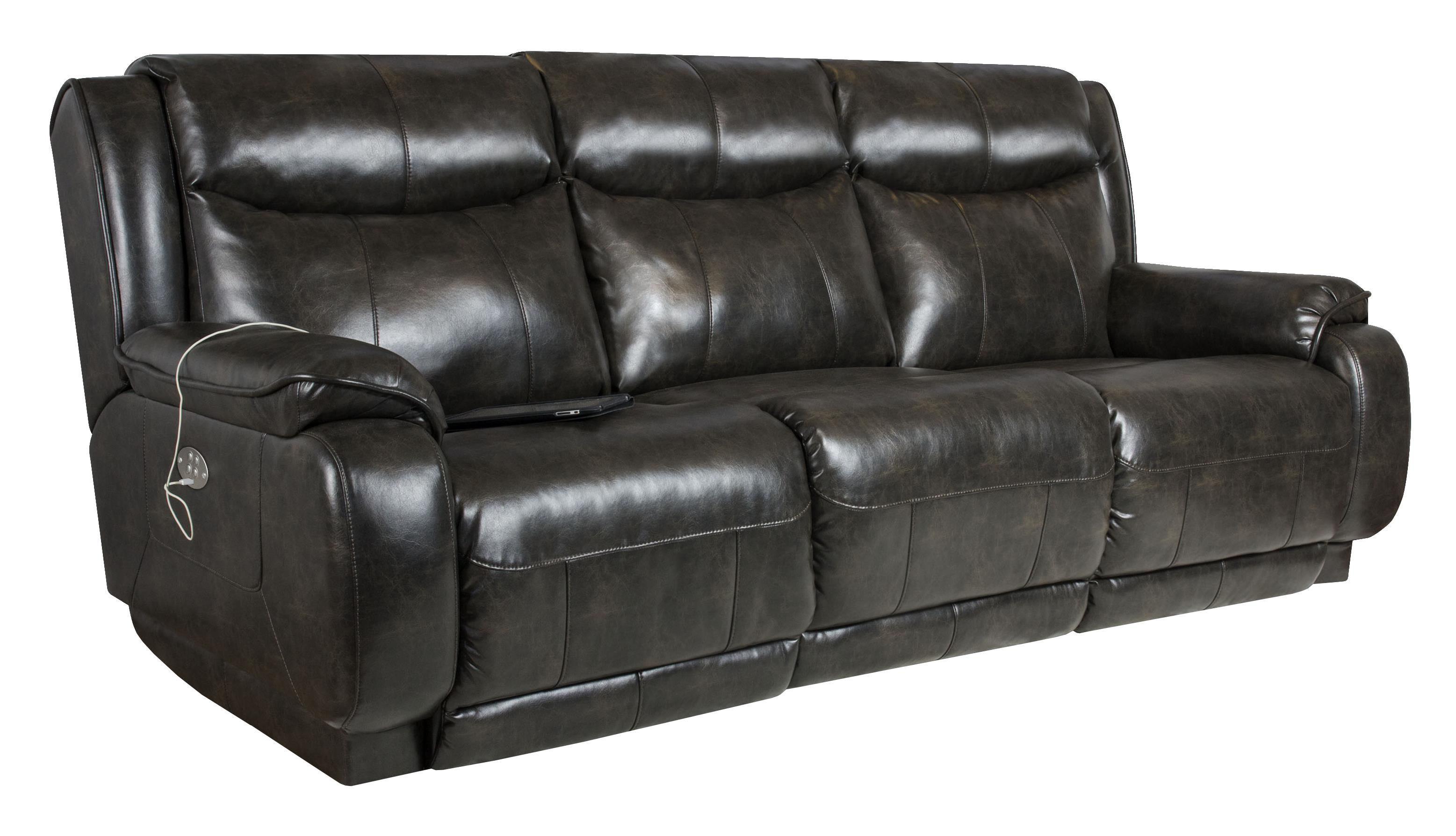 Marvelous Double Reclining Sofa With Power Headrest