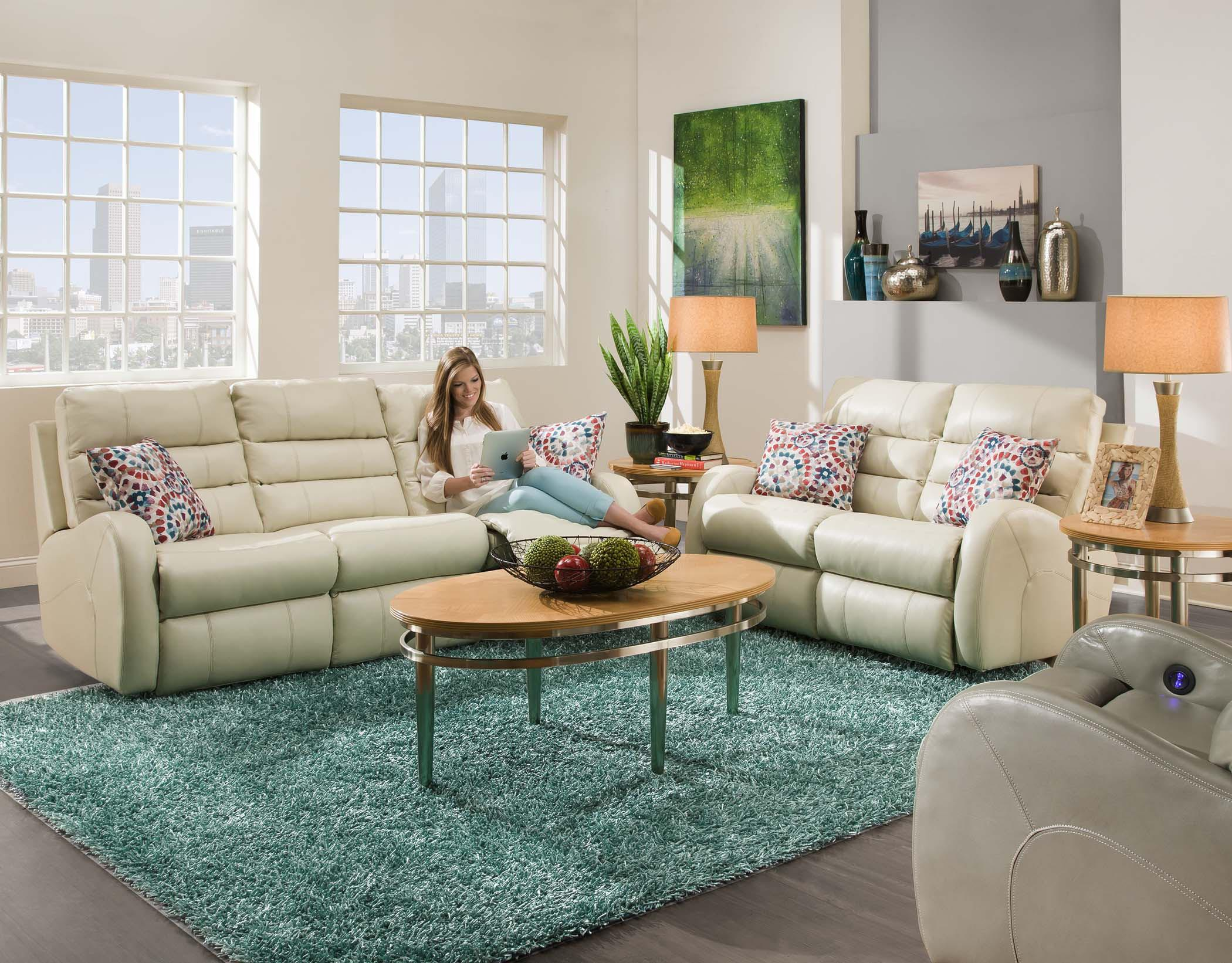 Double Reclining Sofa without Pillows by Southern Motion | Wolf ...