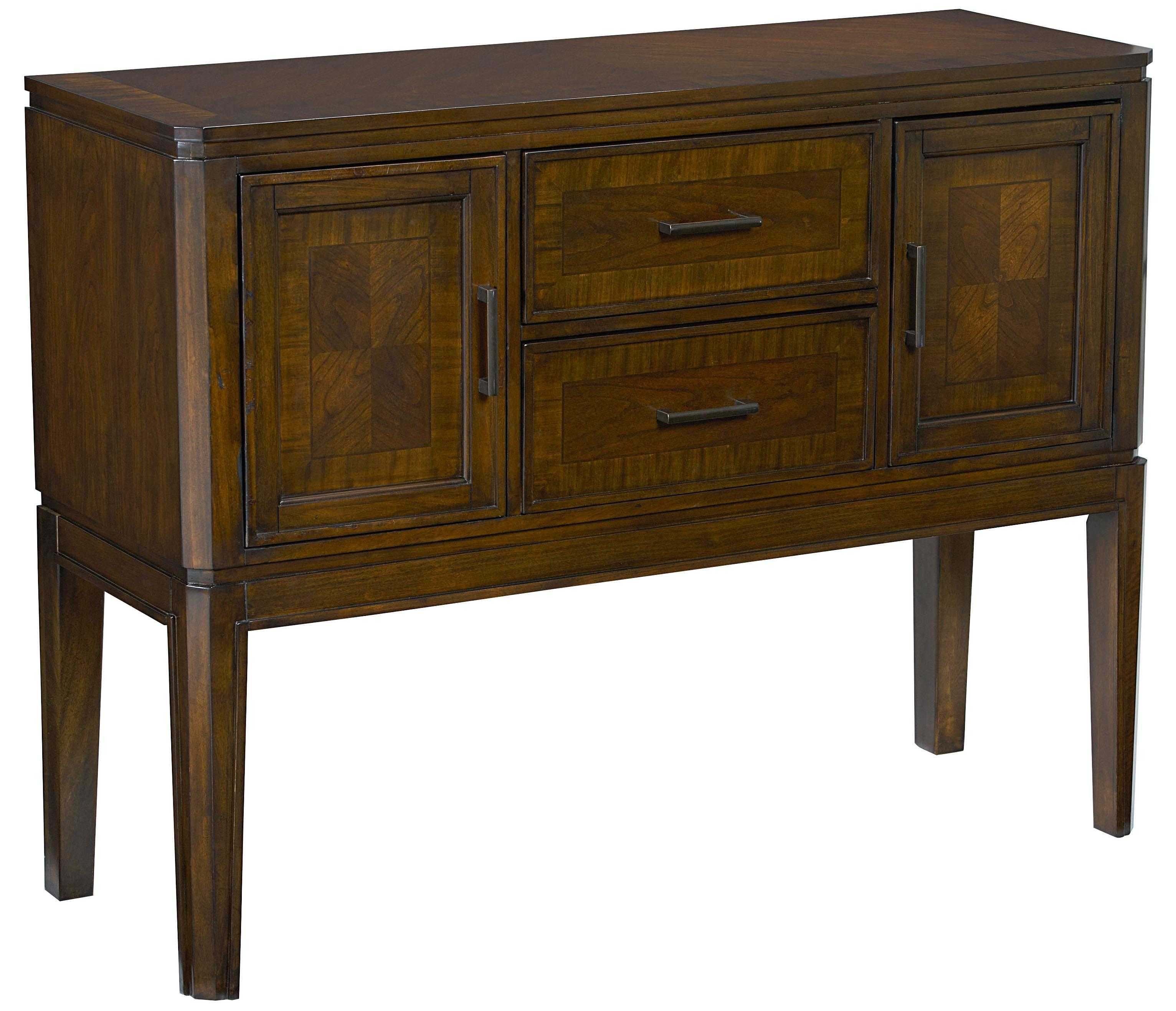 Server in Cherry Finish with Decorative Veneer Patterns by