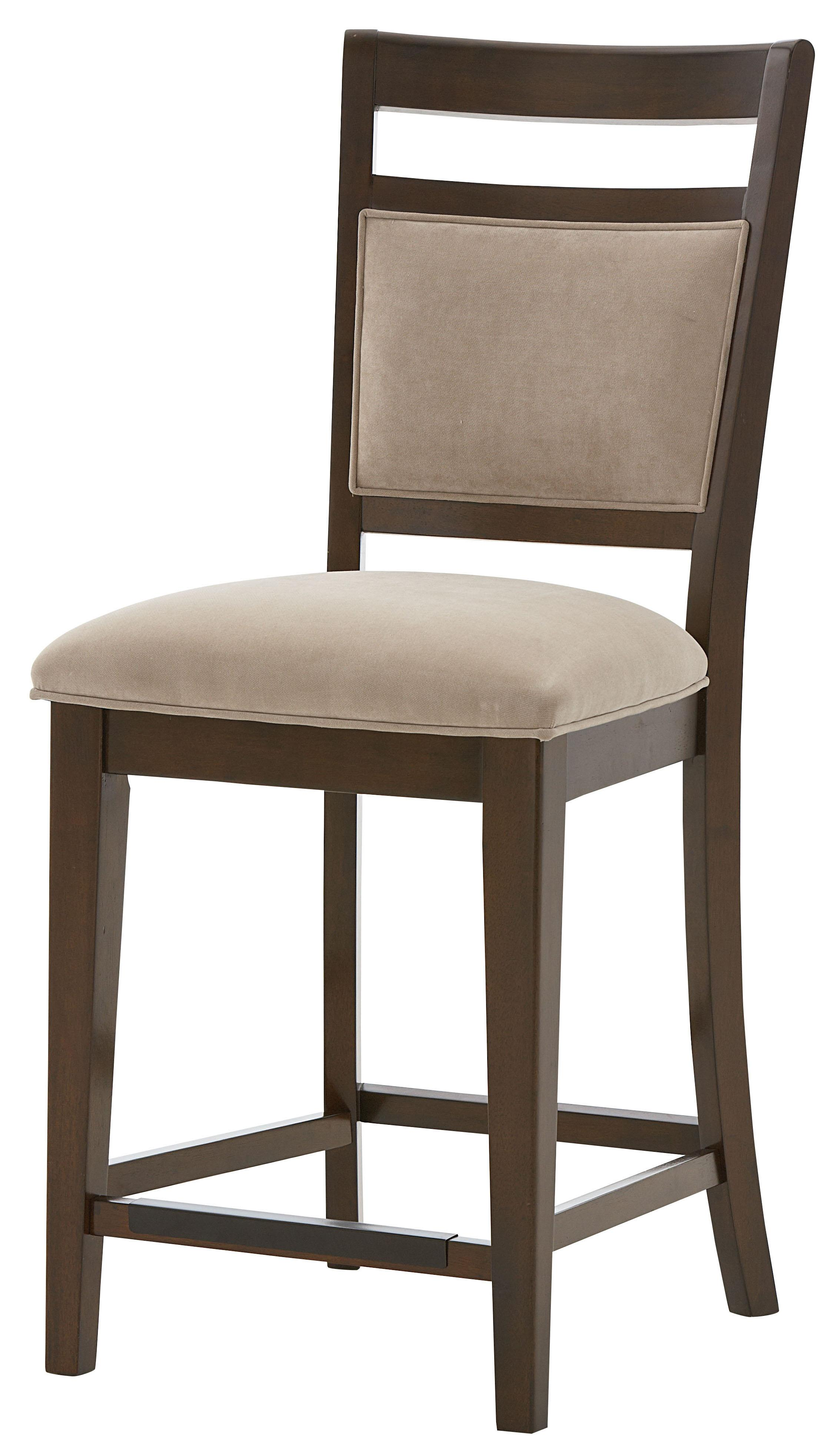 Counter Height Chair With Upholstered Seat And Back With
