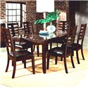 Standard Furniture Bella 7 Piece Dining Set with Faux Marble Top