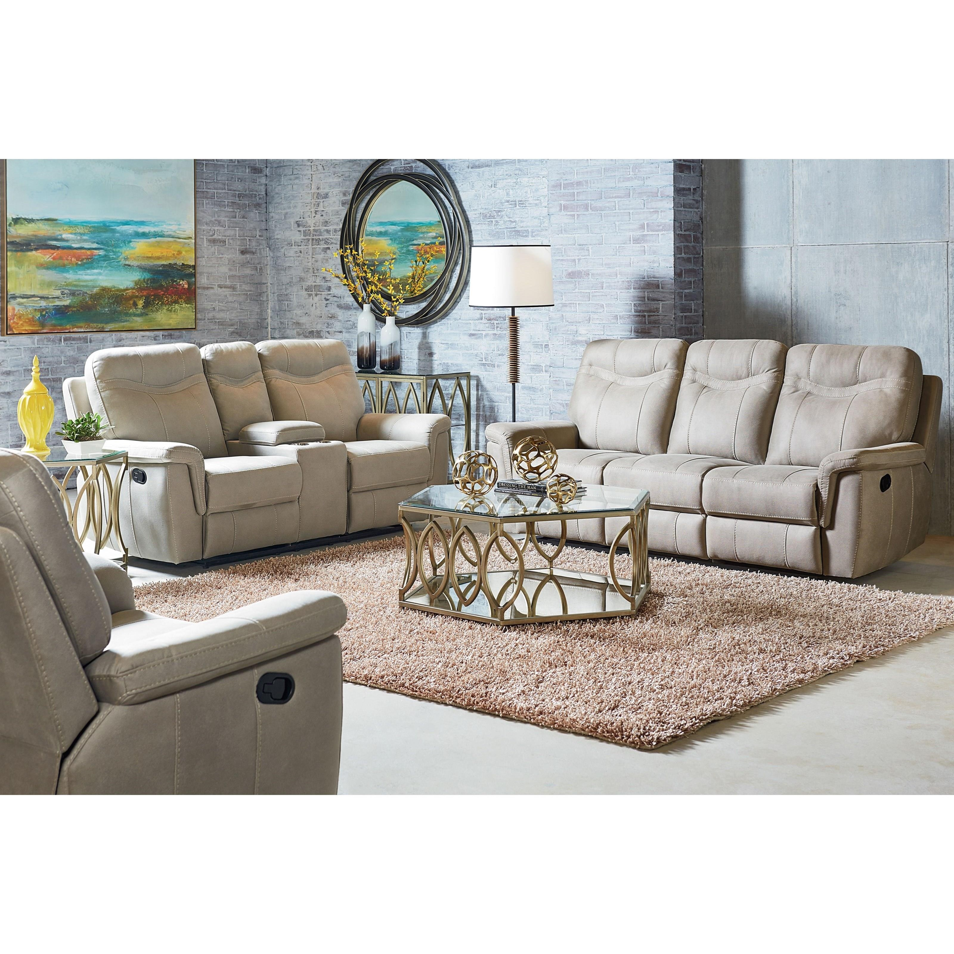 Contemporary Reclining Sofa By Standard Furniture Wolf