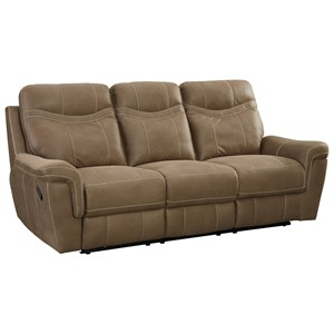 Contemporary Reclining Sofa by Standard Furniture | Wolf ...