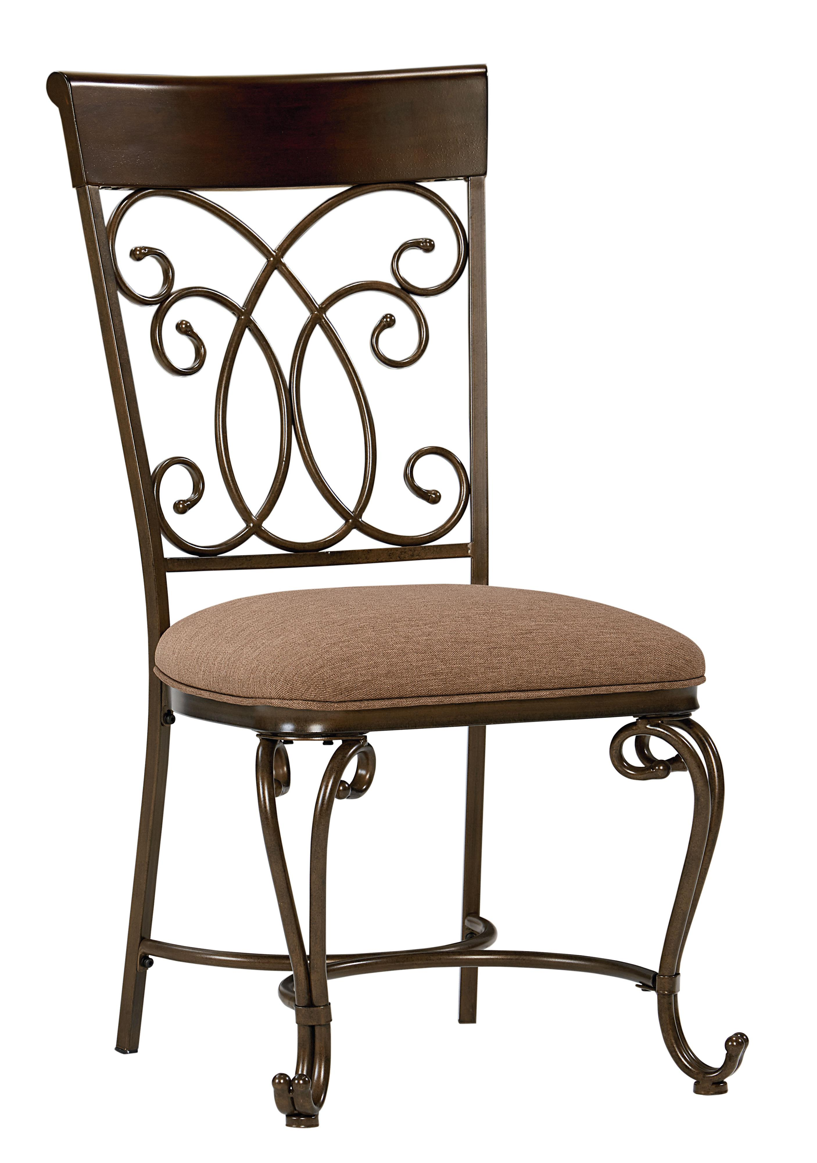 Round Table and Chair Set With Metal Scroll Detail by Standard