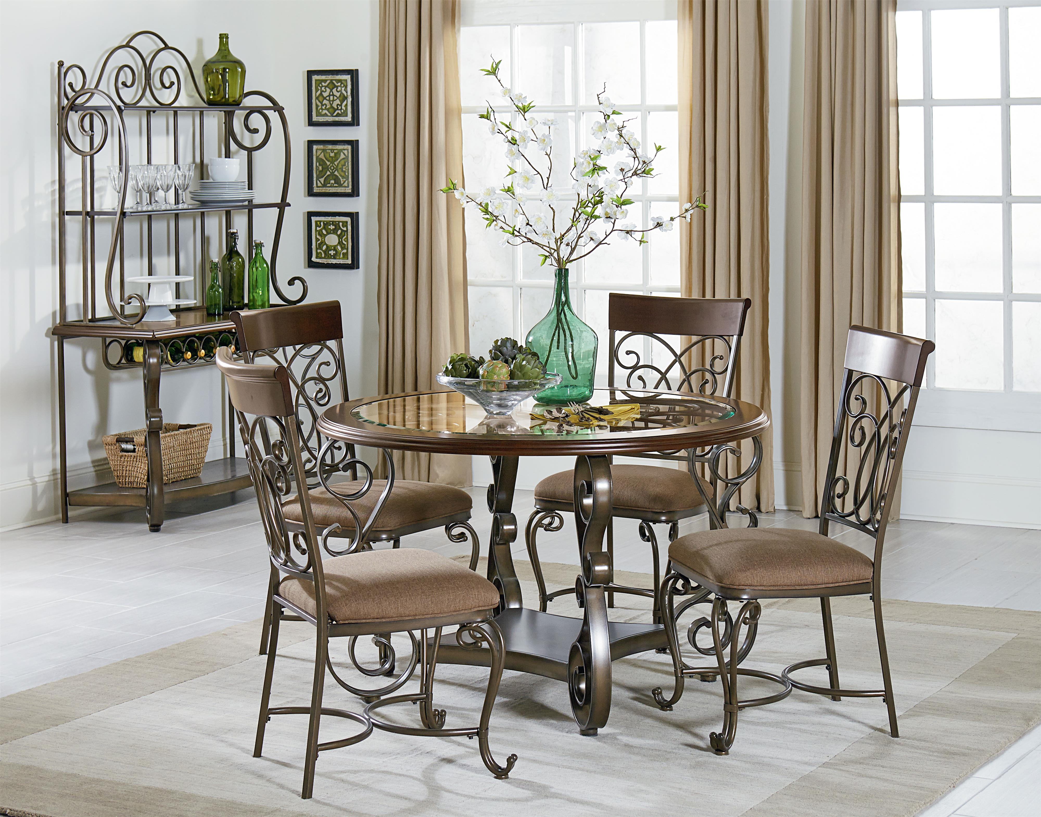 ornate dining room table and chairs. ornate baker\u0027s rack. by standard furniture dining room table and chairs 4