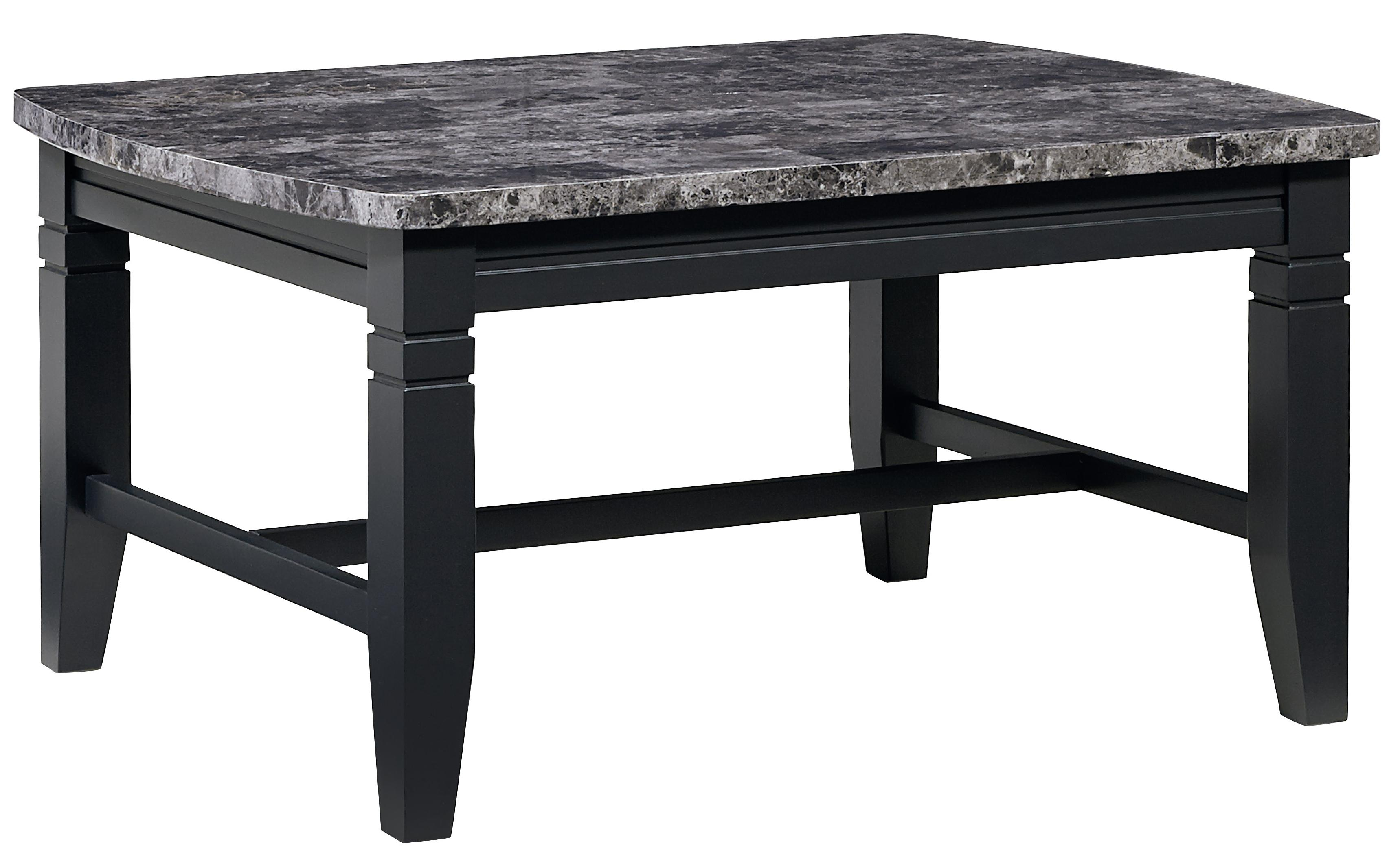 3 Piece Occasional Table Set With Faux Marble Tops By