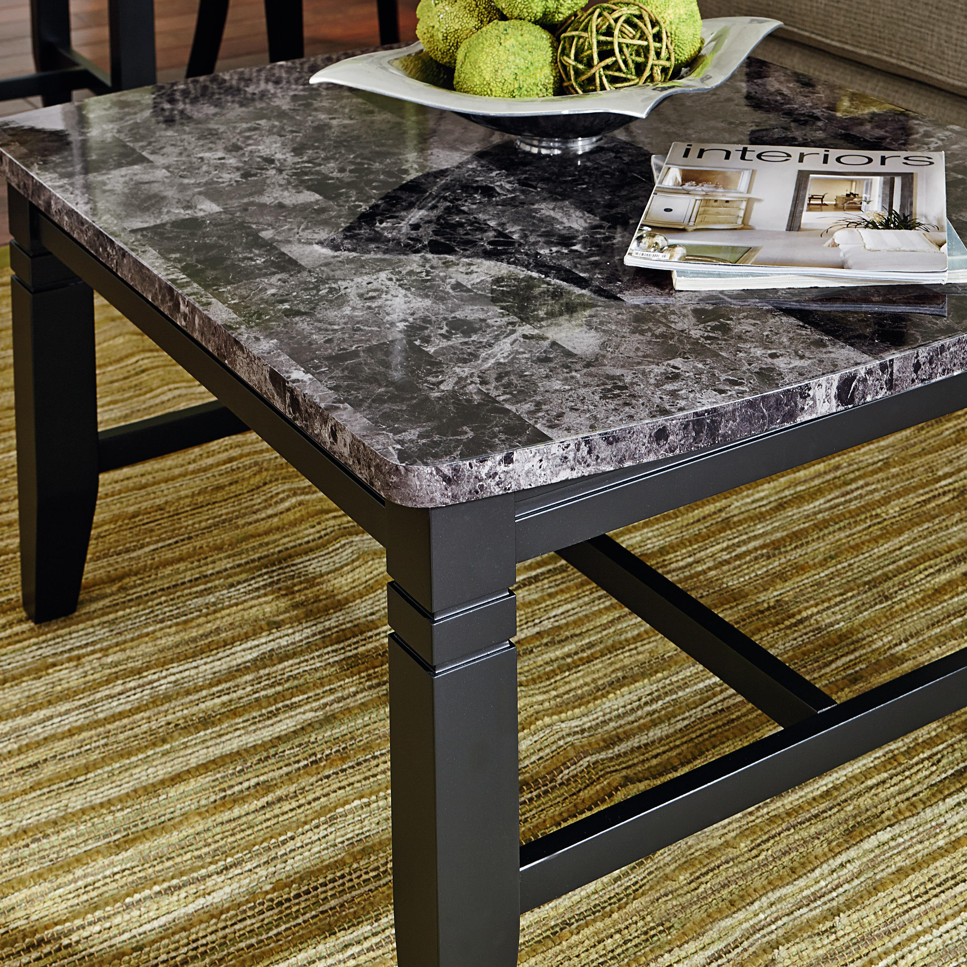 3 Piece Occasional Table Set & 3 Piece Occasional Table Set with Faux Marble Tops by Standard ...