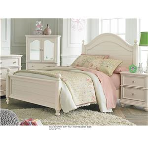 Standard Furniture Camellia Marshmallow Twin Bed with Cannonball Bed Posts