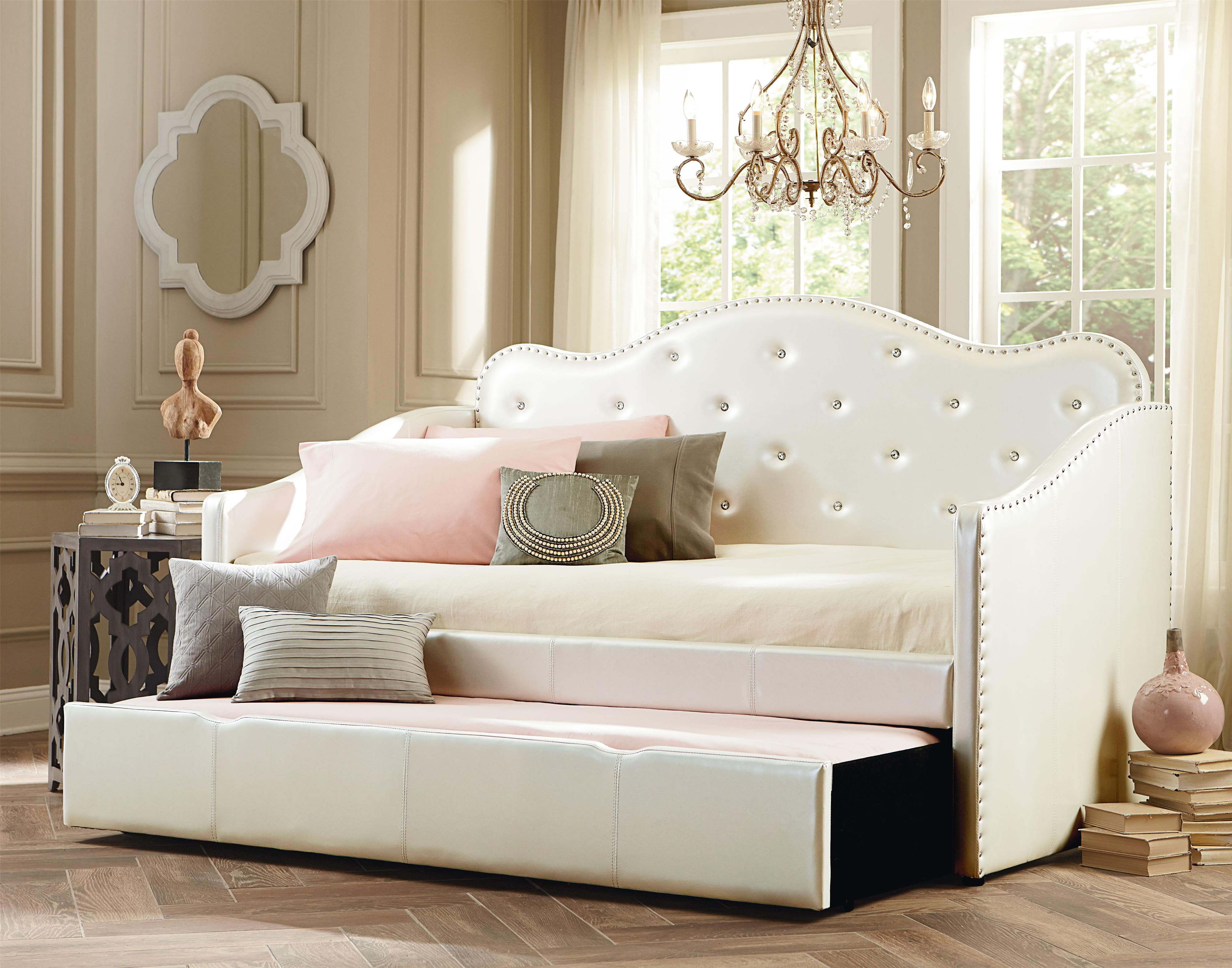 Twin Upholstered Bed With Trundle