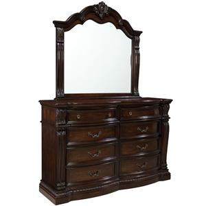 Standard Furniture Churchill  Dresser with Mirror