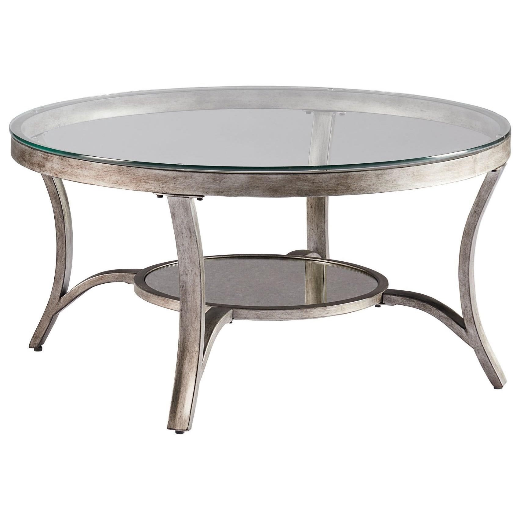 7ef0c90102b3c1 Round Cocktail Table with Glass Top. Low price guarantee badge by Standard  Furniture