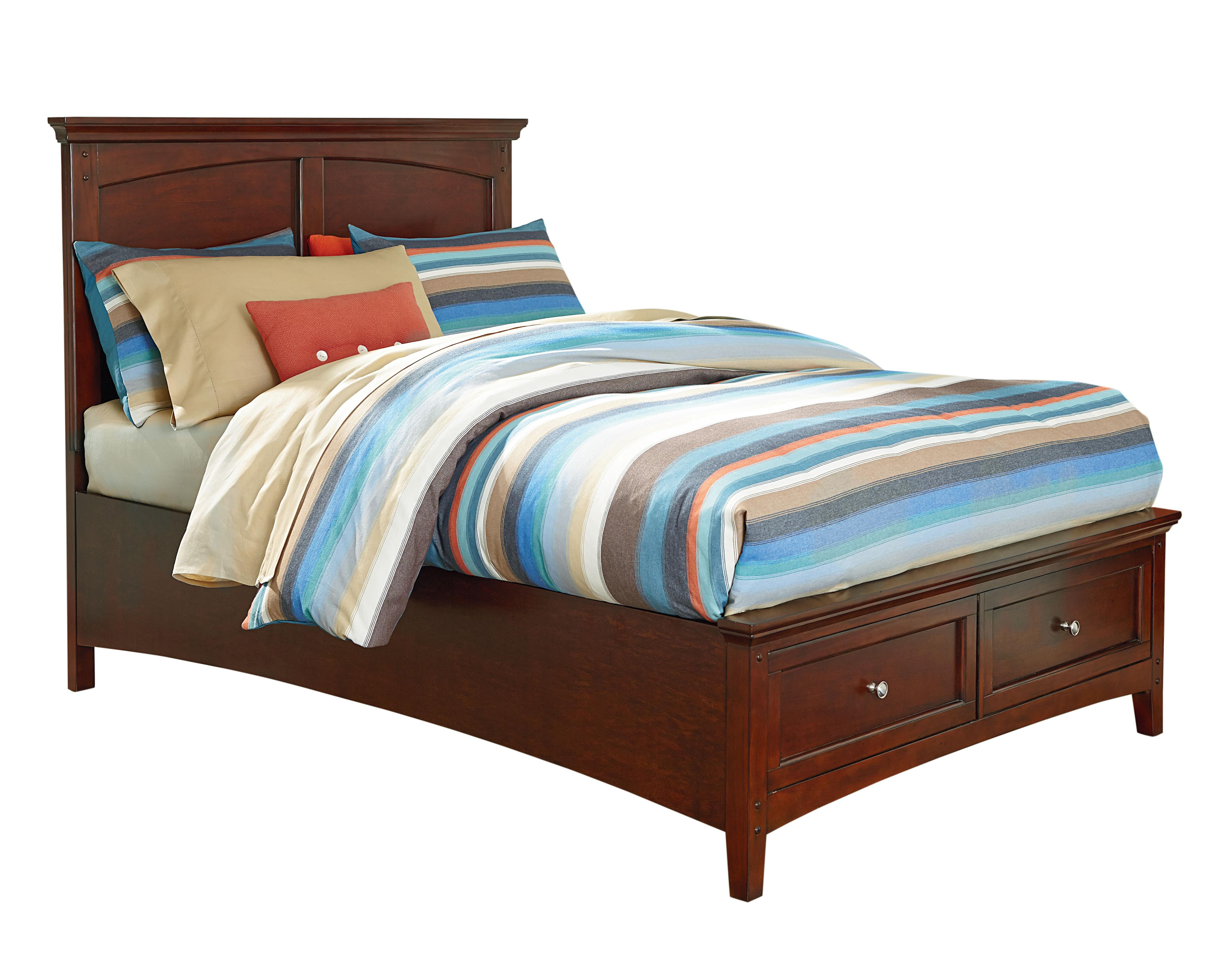 Twin bed with storage - Casual Twin Bed With Storage Footboard