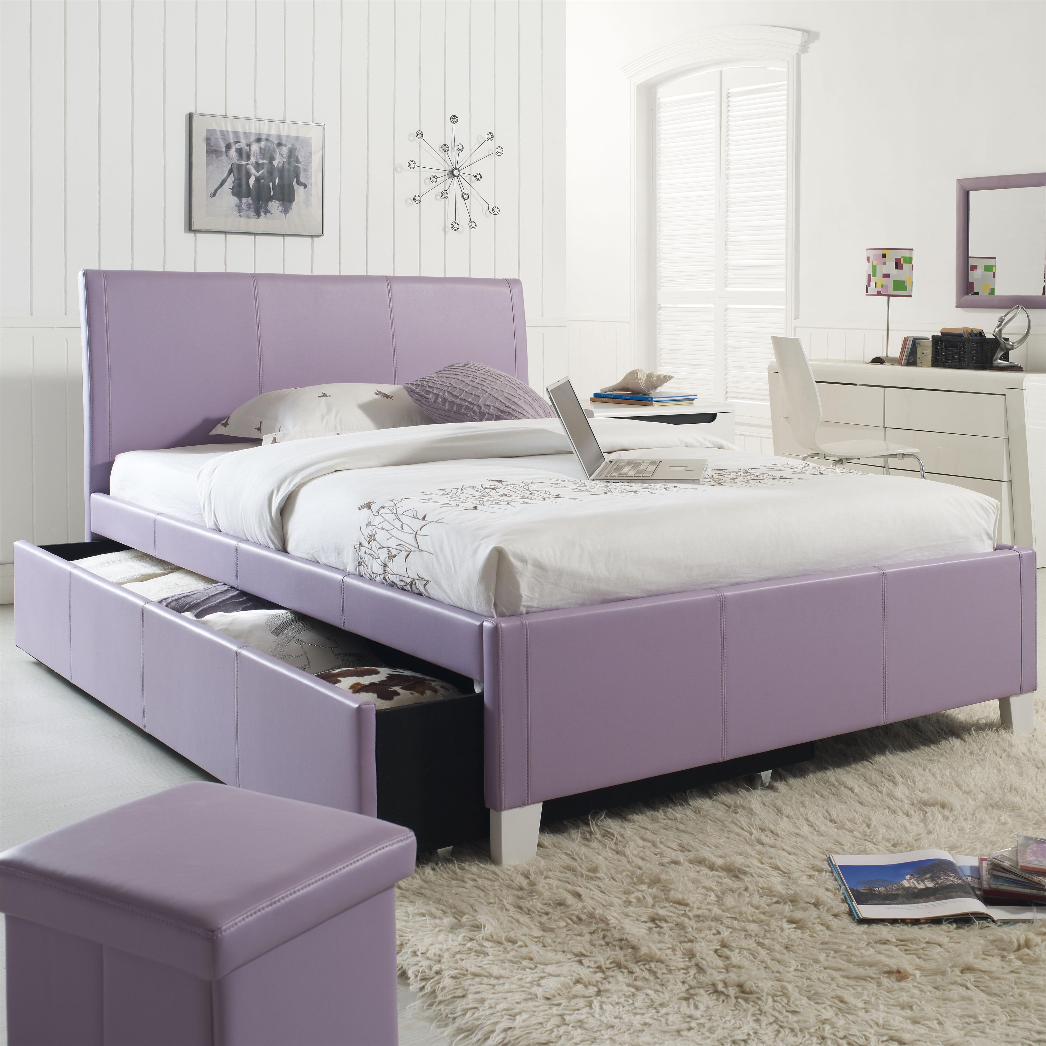 Twin Upholstered Youth Trundle Bed