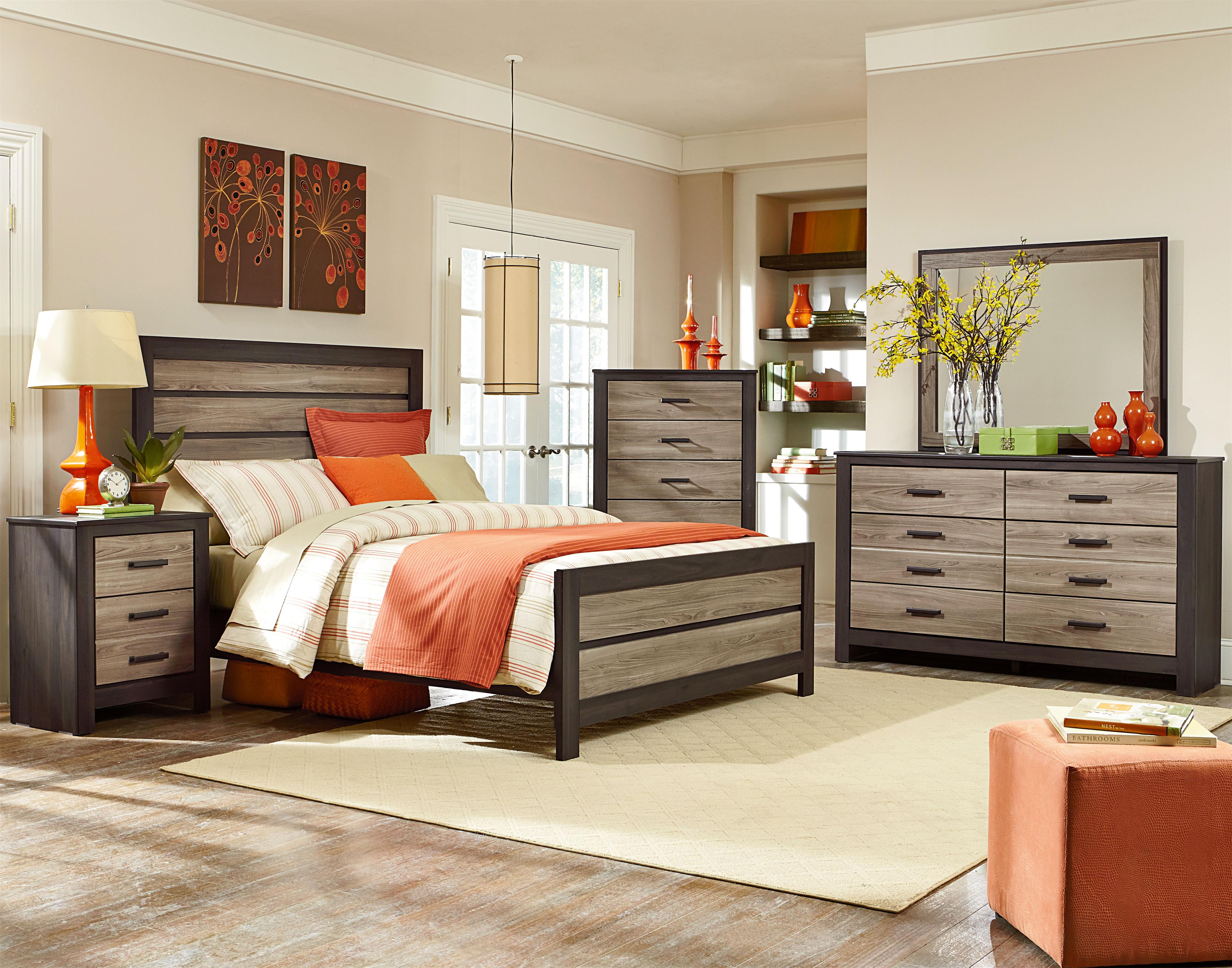 King Panel Bed By Standard Furniture Wolf And Gardiner Wolf - Weathered oak bedroom furniture