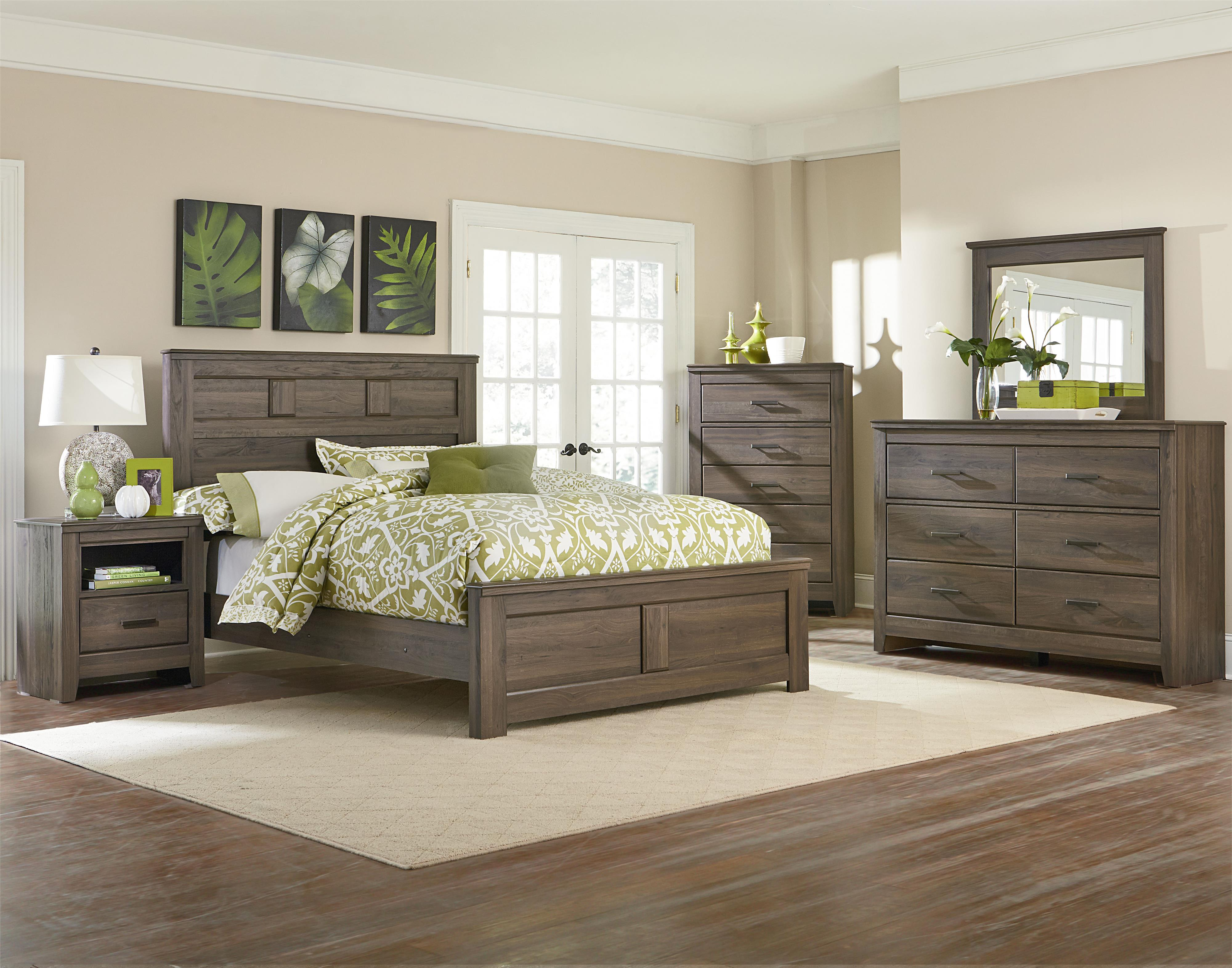 queen panel bed with raised panelsstandard furniture | wolf