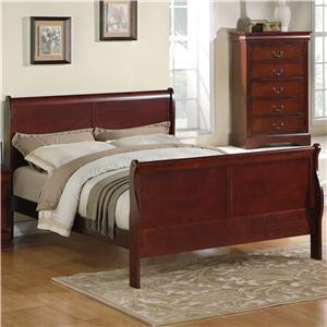 Zenith Lewiston Queen Sleigh Bed