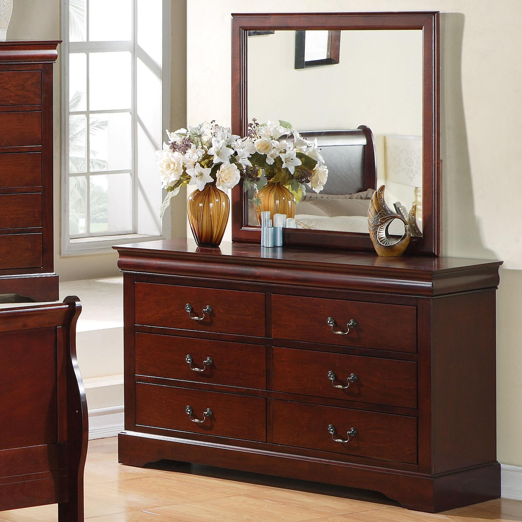6 drawer dresser with mirror combination by standard 11700 | products 2fstandard furniture 2fcolor 2flewiston 20 201168897816 80409 2b80408 b