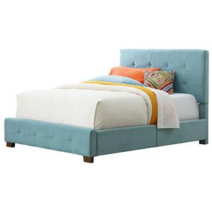 Standard Furniture Madison Twin Upholstered Bed with Short Wood Legs