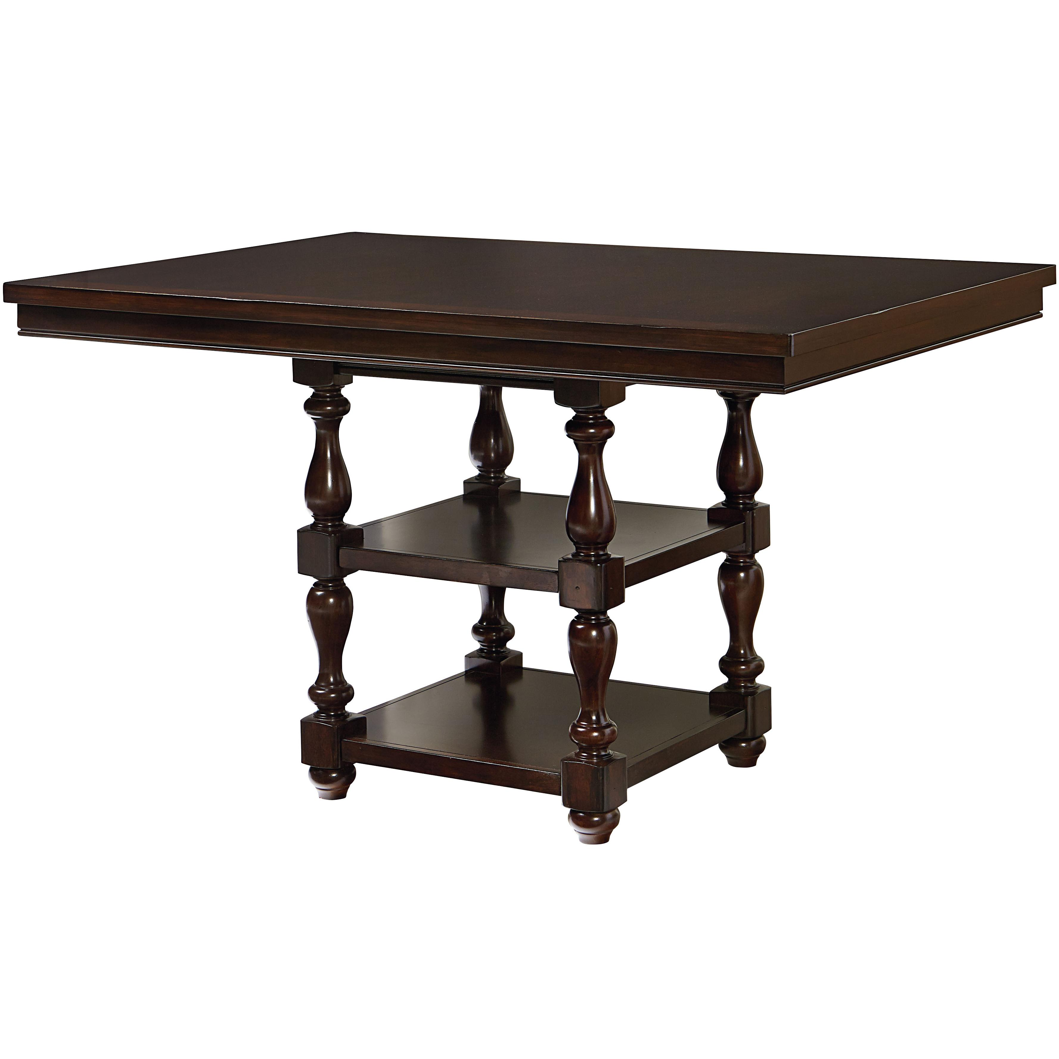 Counter Height Table With Shelves By Standard Furniture Wolf And - 17 inch high coffee table