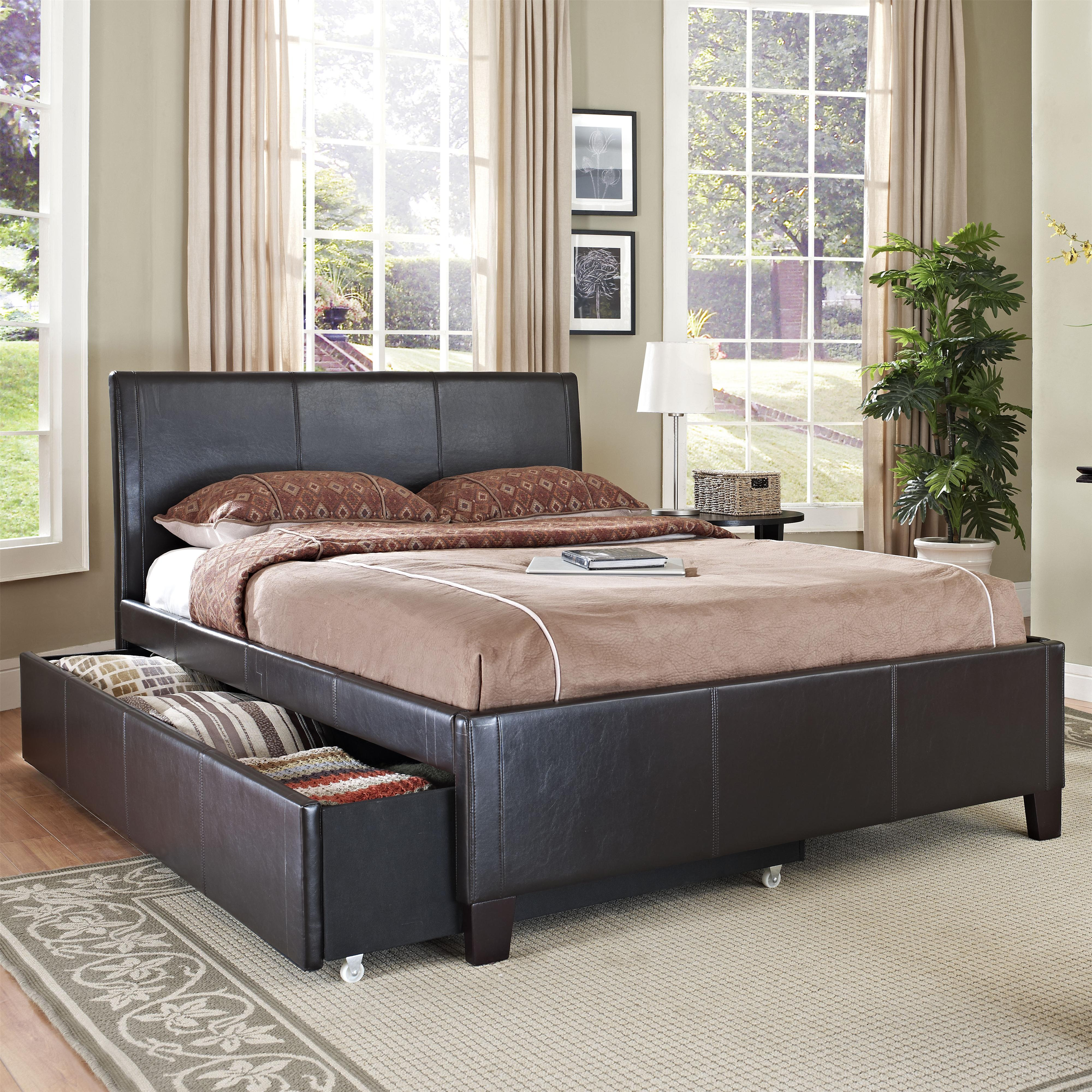 Full Brown Trundle Bed By Standard Furniture Wolf Furniture