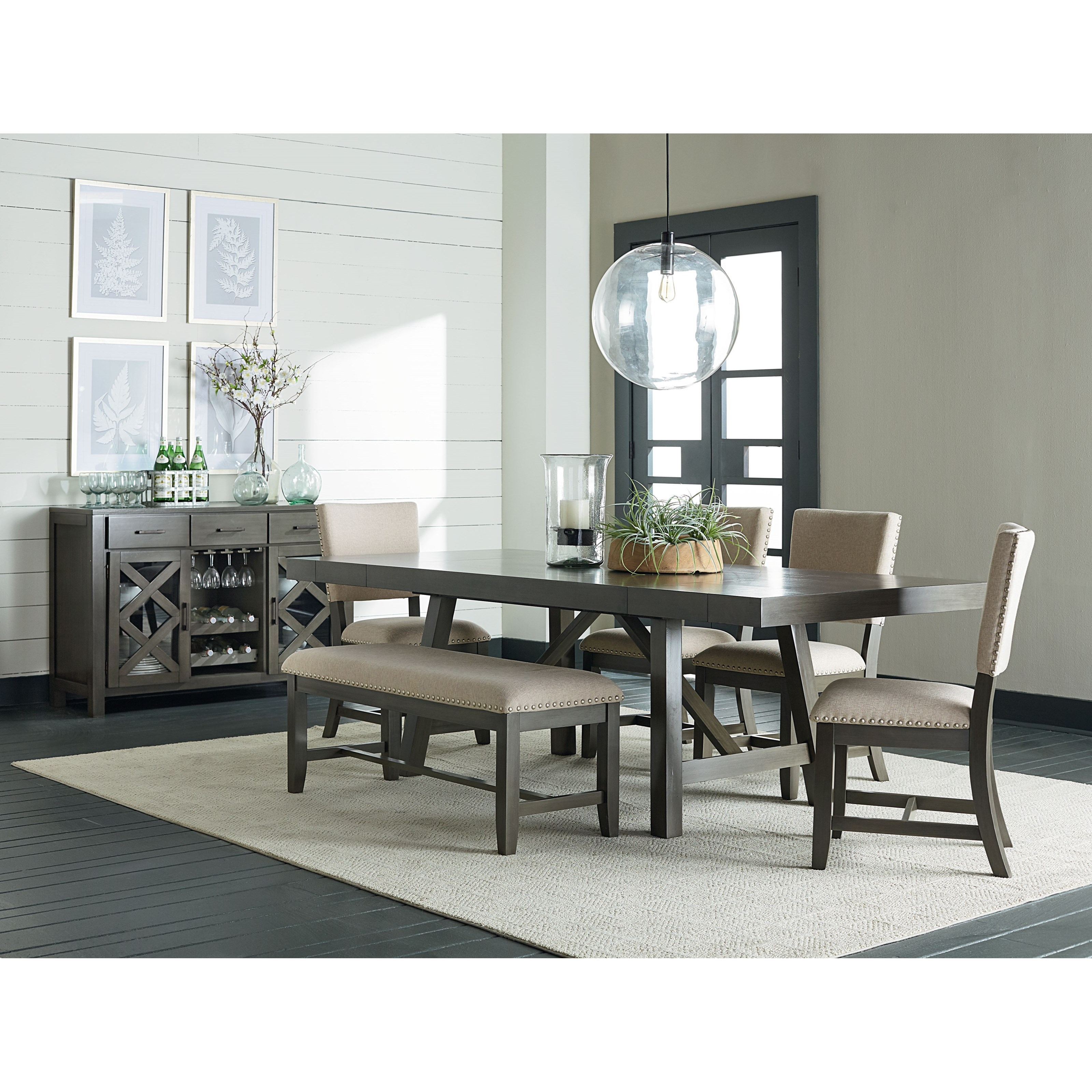 Trestle Dining Room Table: Trestle Dining Room Table With Two Leaves By Standard