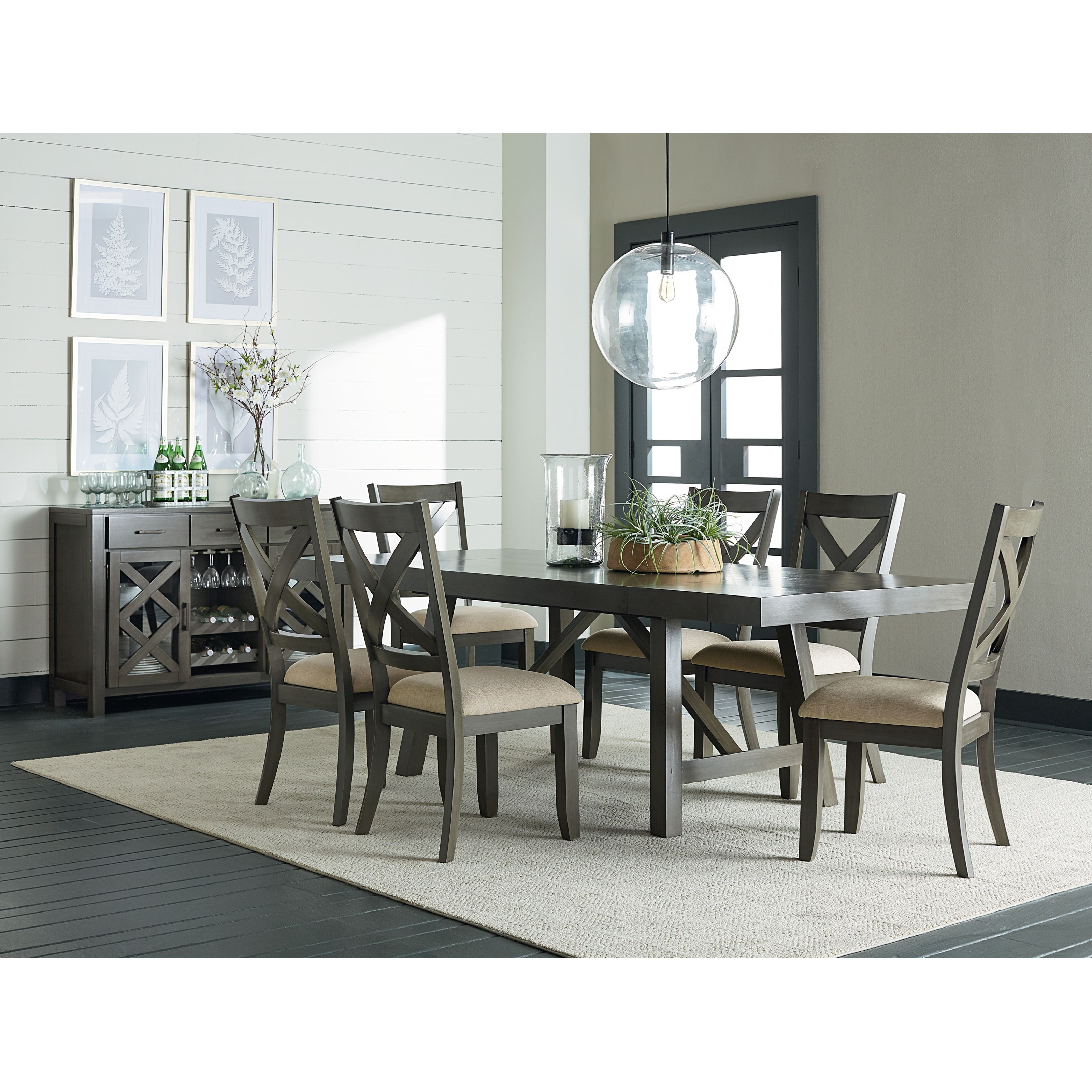 Dining Room Table Leaves: Trestle Dining Room Table With Two Leaves By Standard