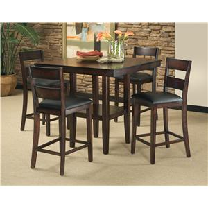 Vendor 855 Pendelton 5-Piece Pub Table & Barstool Set