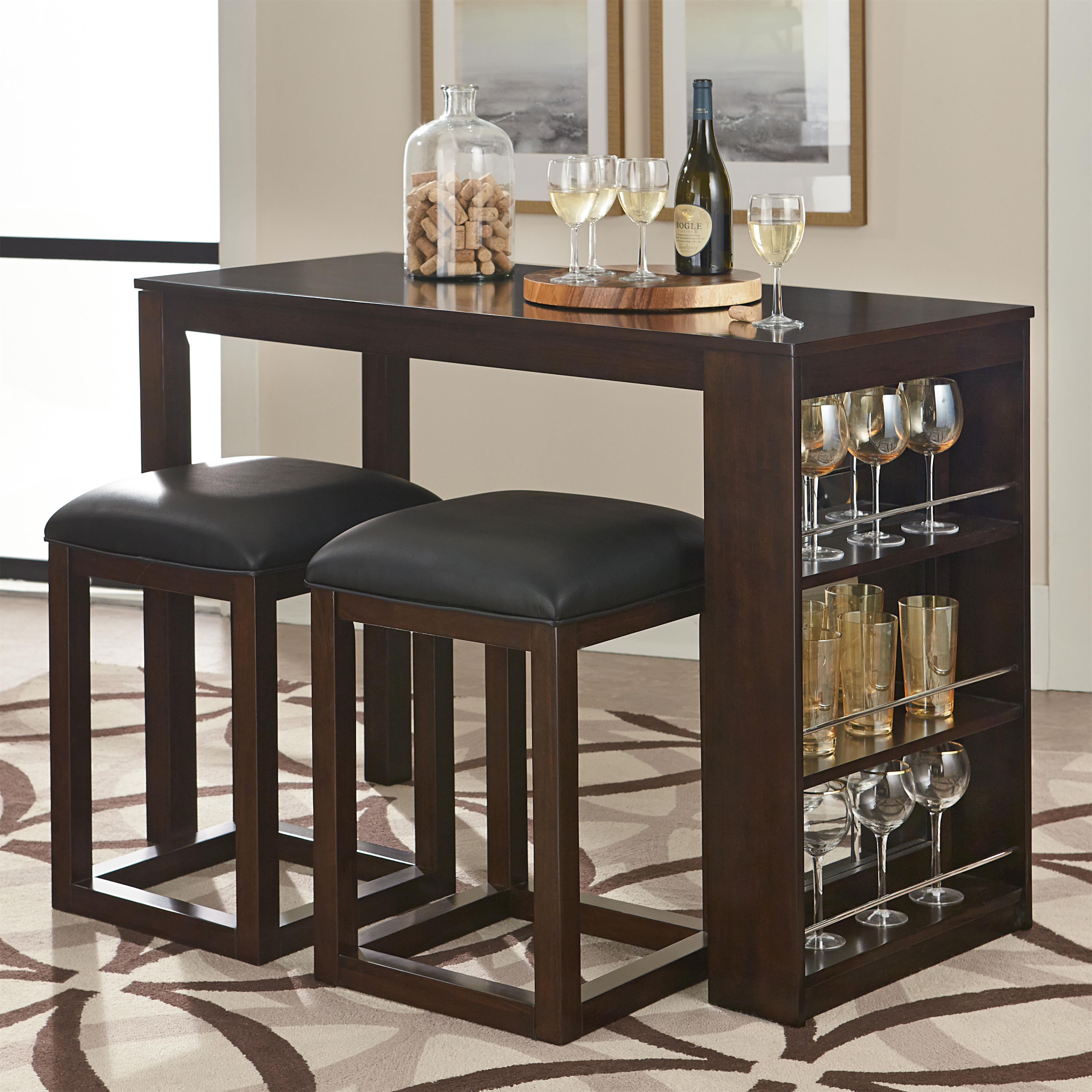 3 Piece Pub Table and Stool Set with Storage by Standard Furniture