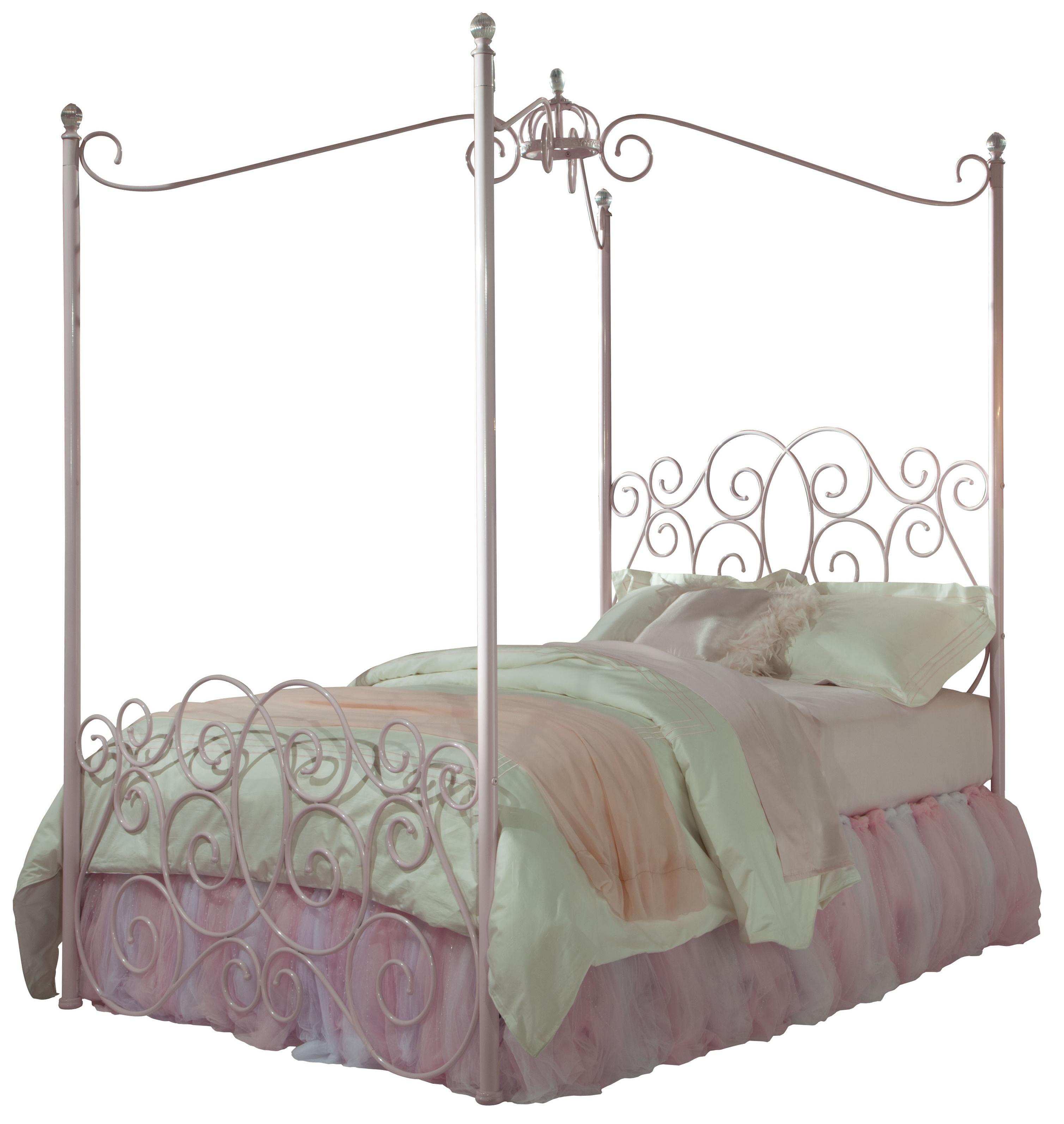Full Metal Canopy Bed  sc 1 st  Wolf Furniture & Full Metal Canopy Bed with Clear Post Finials by Standard ...
