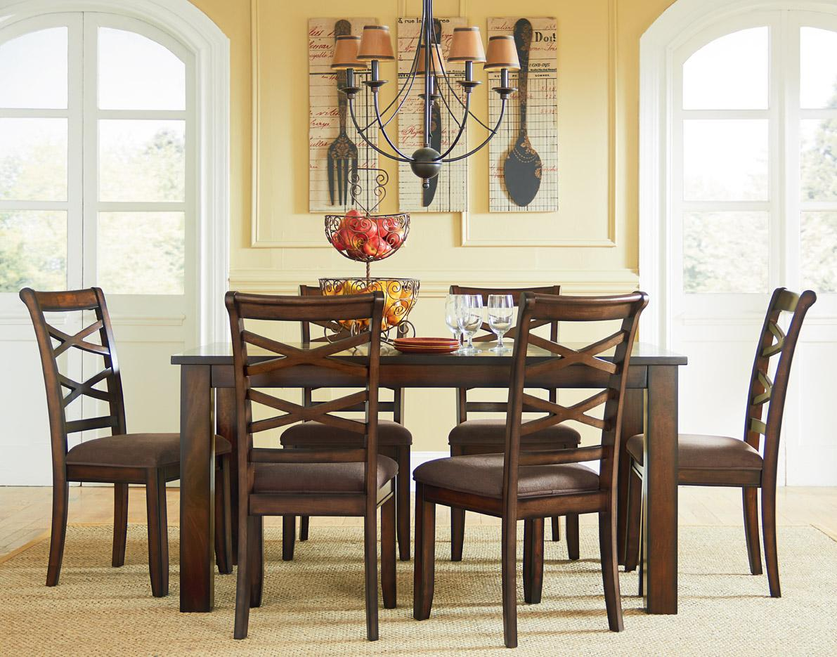 casual dining room furniture sets casual transitional 7 dining set by standard 6294