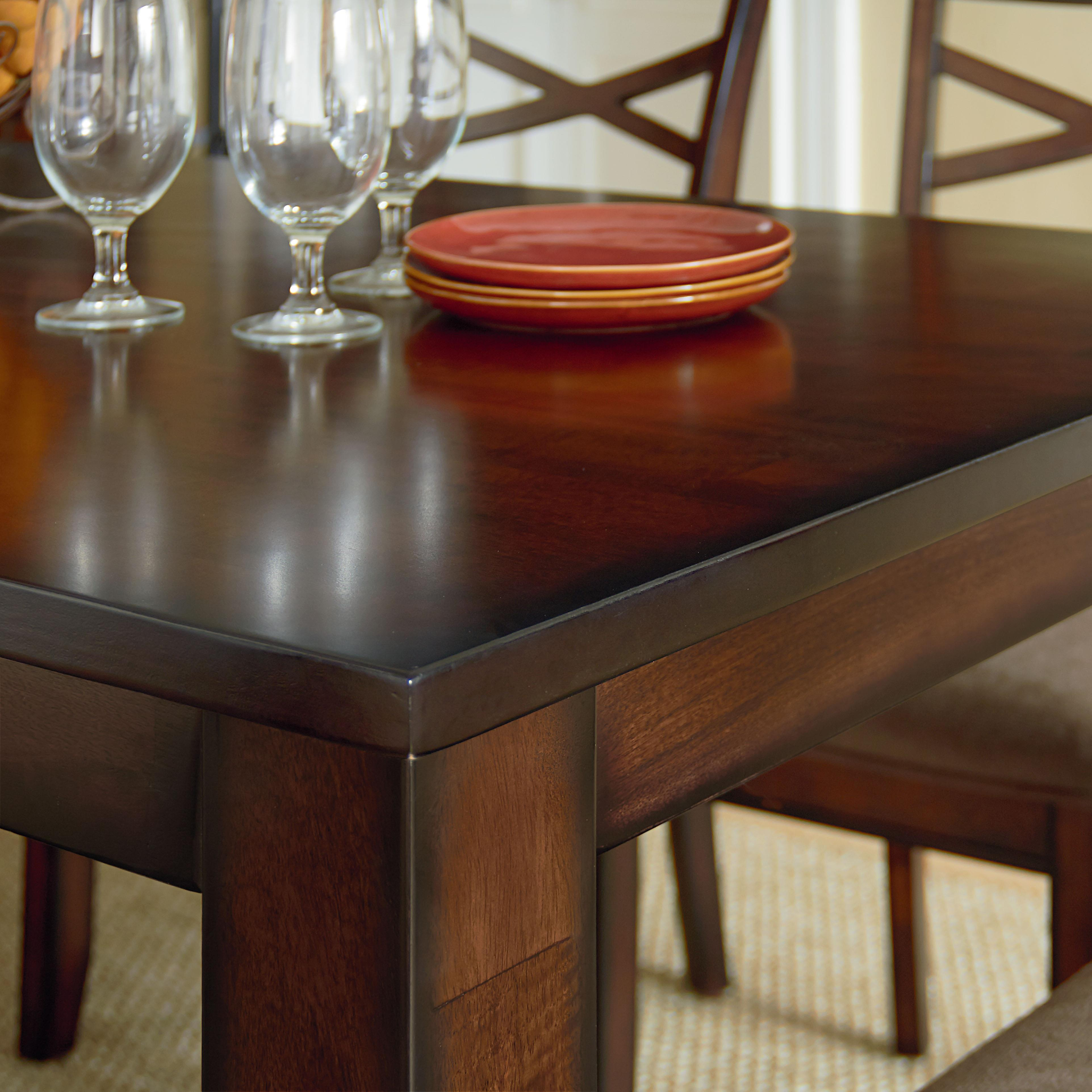 Casual Transitional 7 Piece Dining Set By Standard