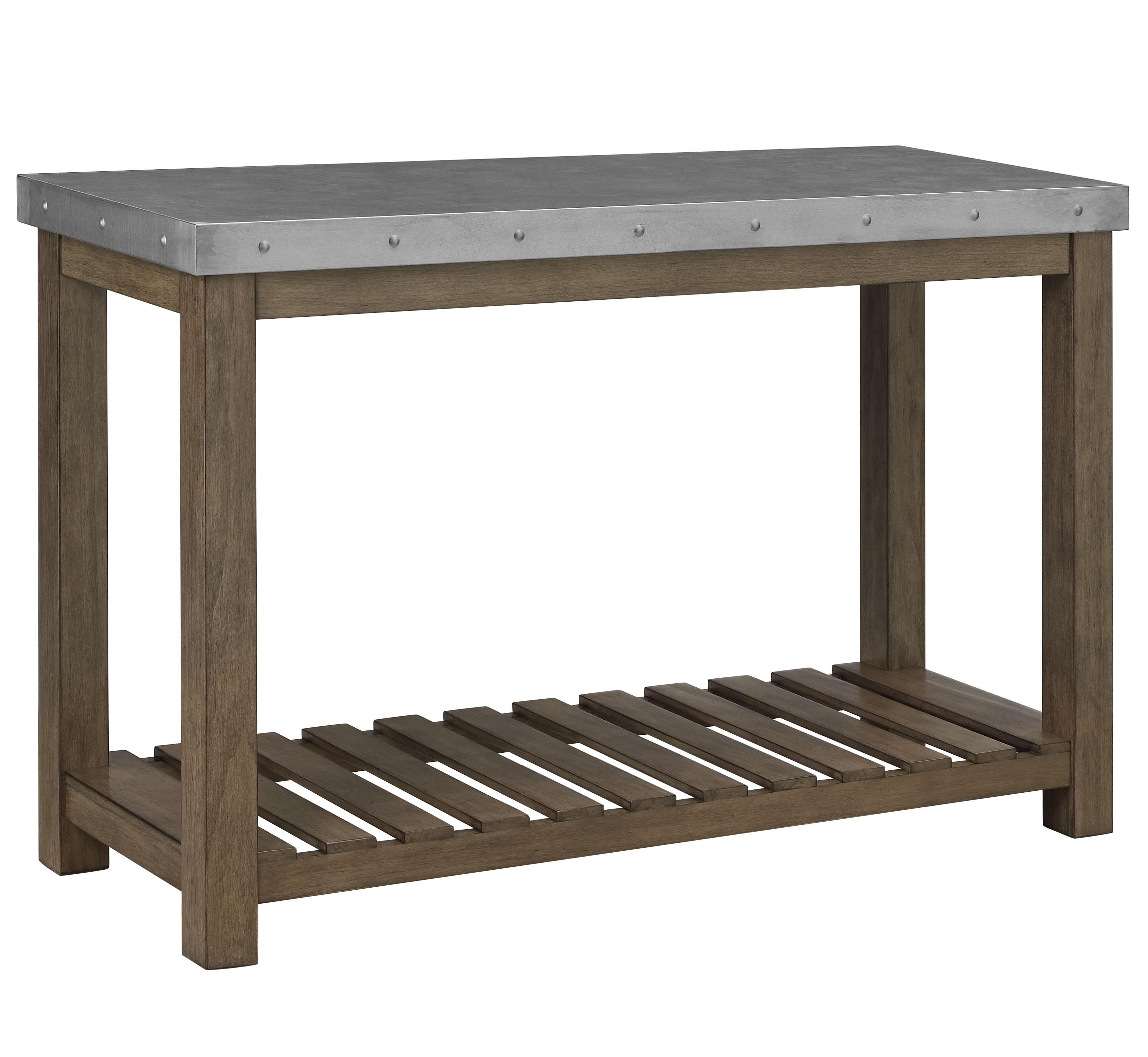 Metal top console table by standard furniture wolf and gardiner metal top console table geotapseo Gallery