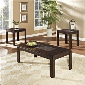 Standard Furniture Sparkle 3 Piece Occasional Table Set