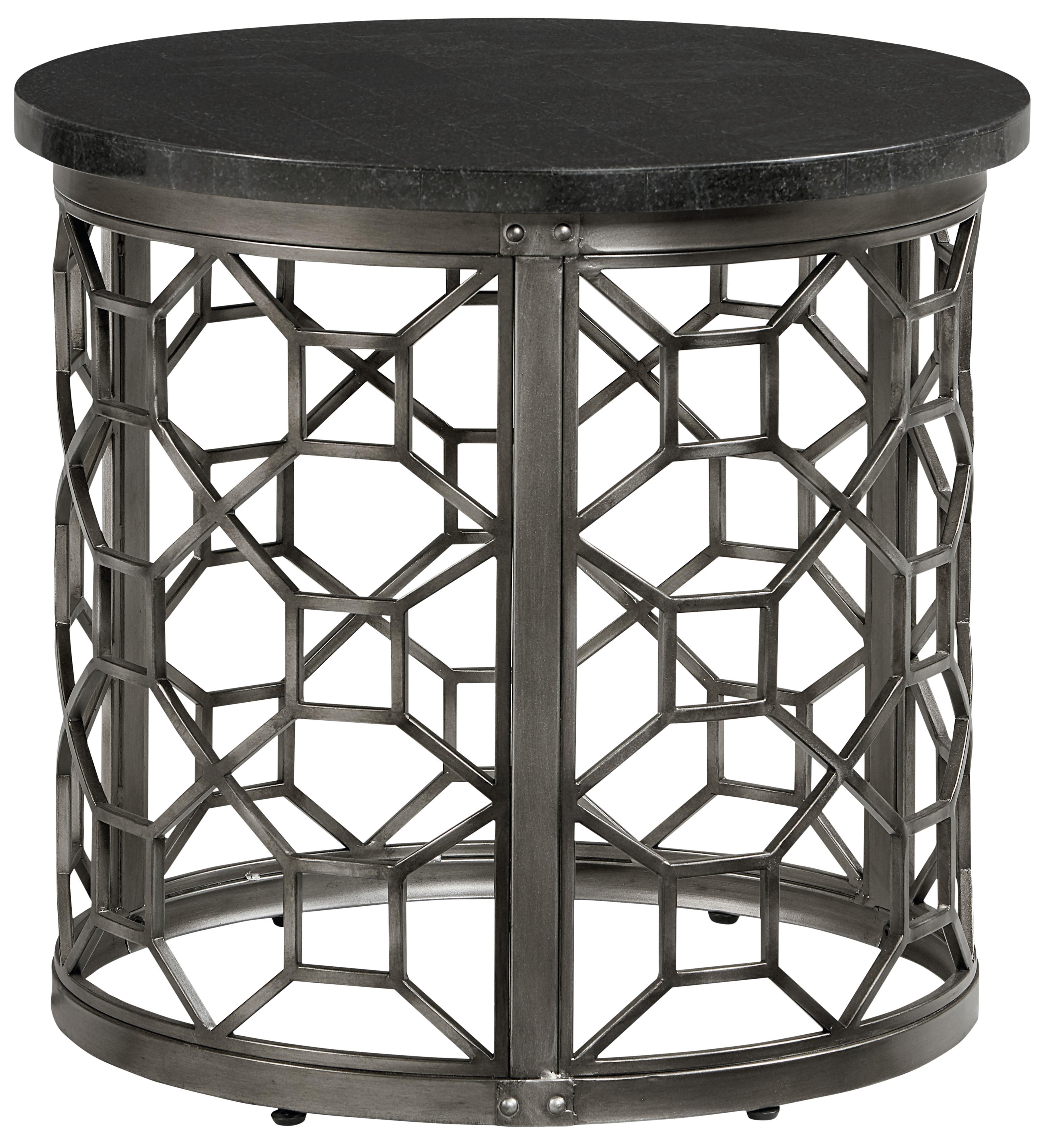 Ordinaire Round End Table With Granite Top