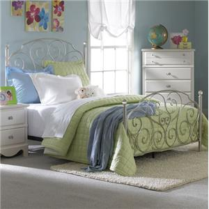 Standard Furniture Spring Rose Twin Metal Bed