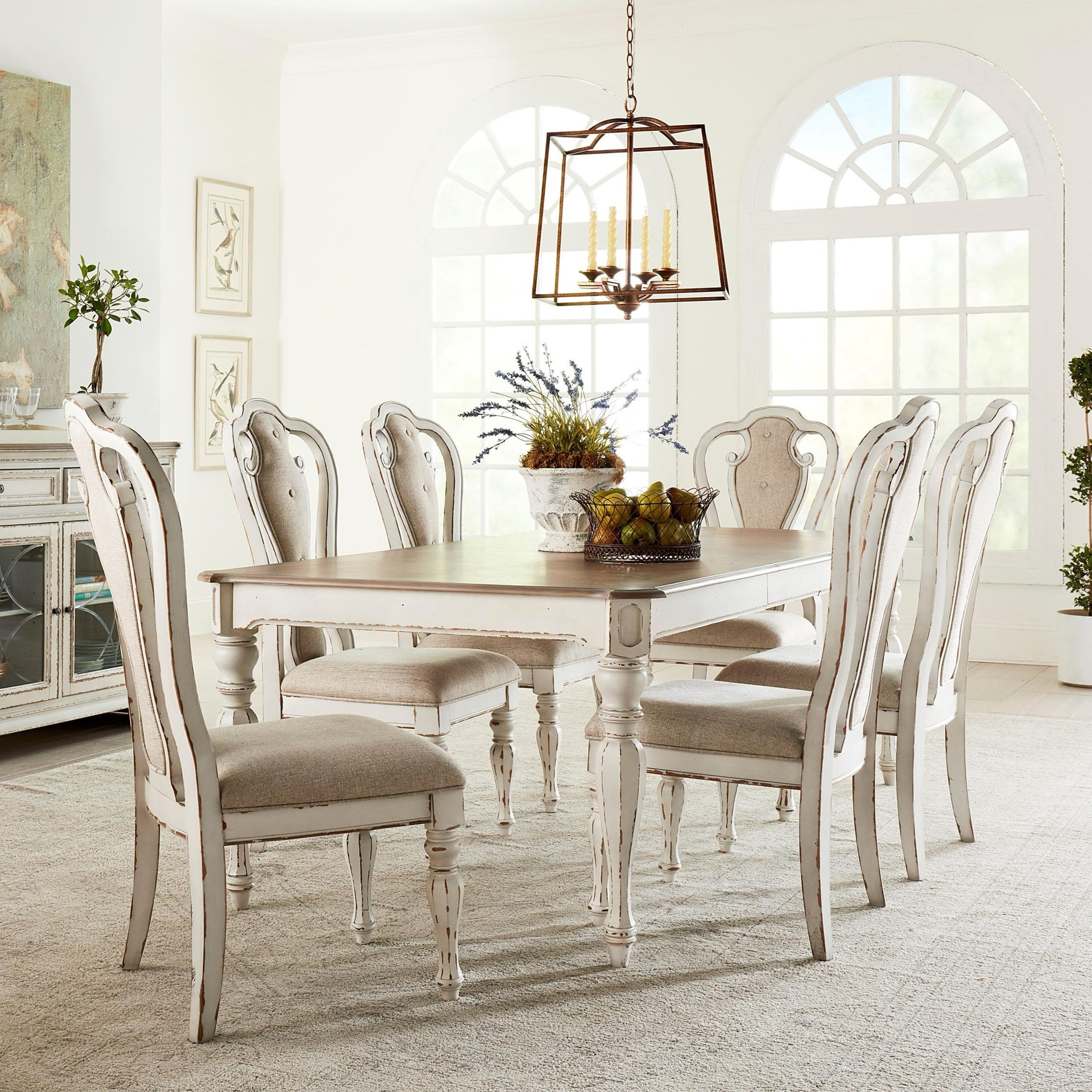Dining Room Sets 6 Chairs: Dining Room Set With Six Side Chairs By Standard Furniture