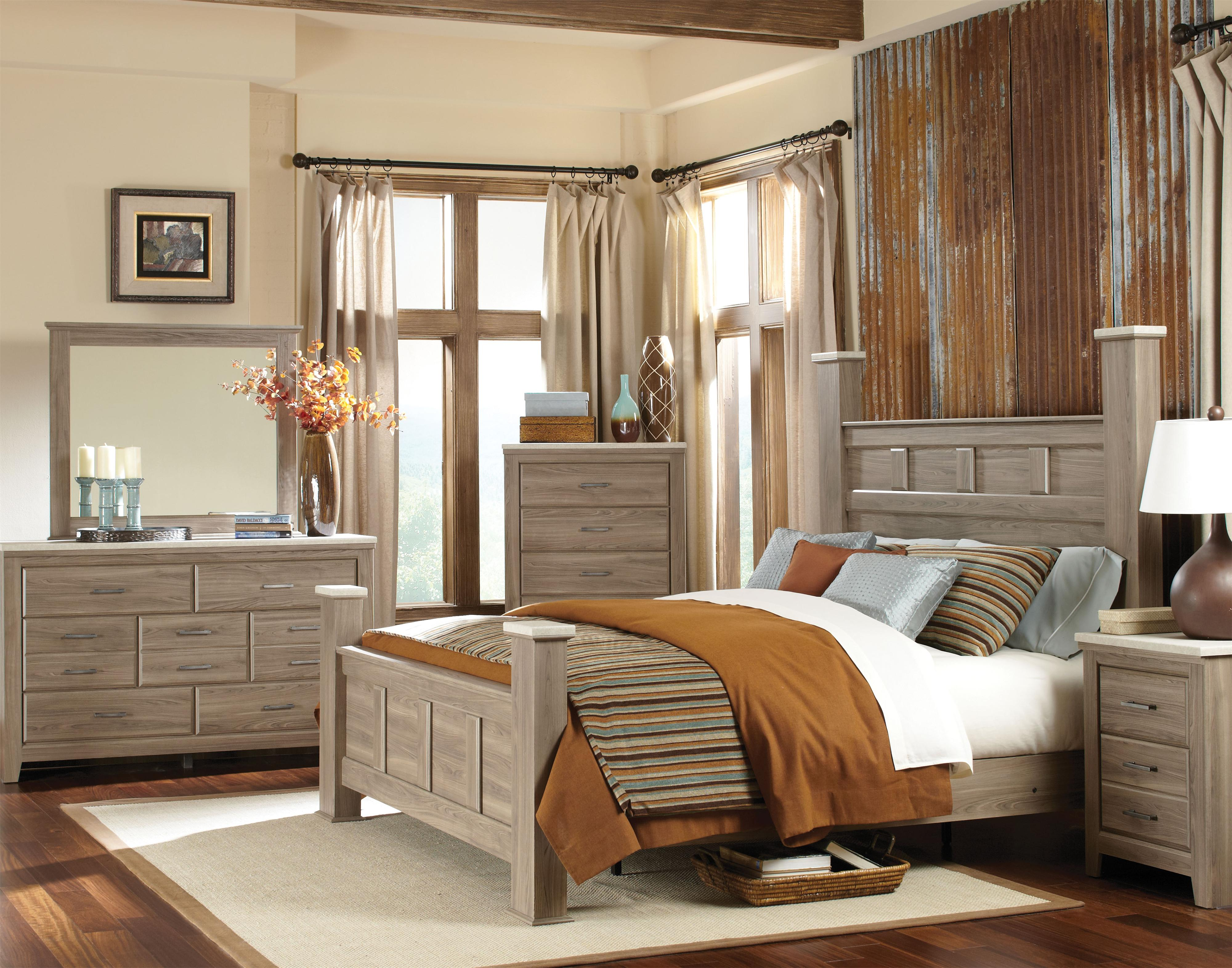 Casual Queen Poster Bed By Standard Furniture Wolf And Gardiner