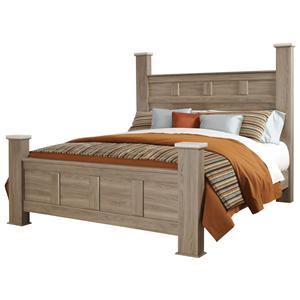 Standard Furniture Stonehill Queen Poster Bed