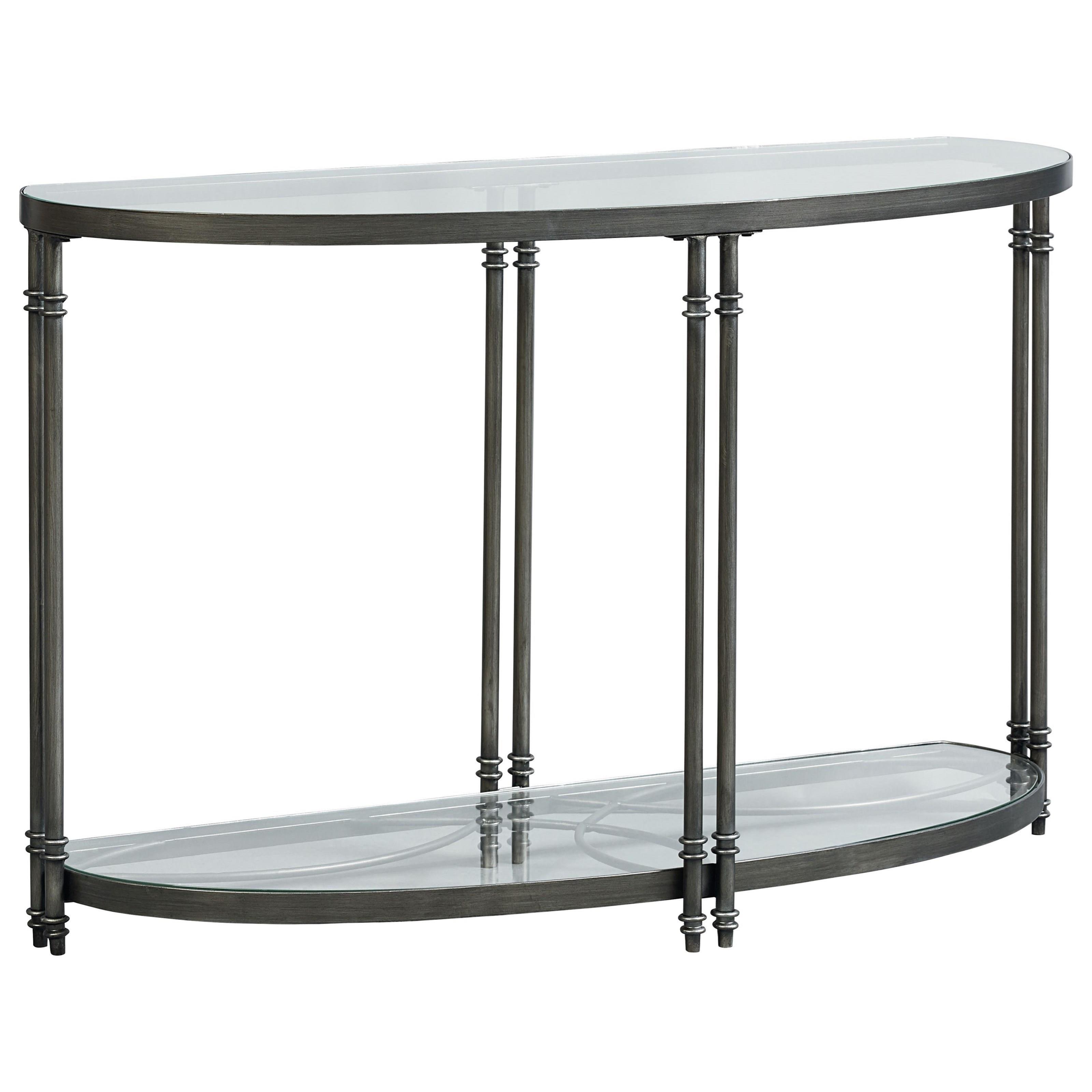 Superb Contemporary Demilune Console Table