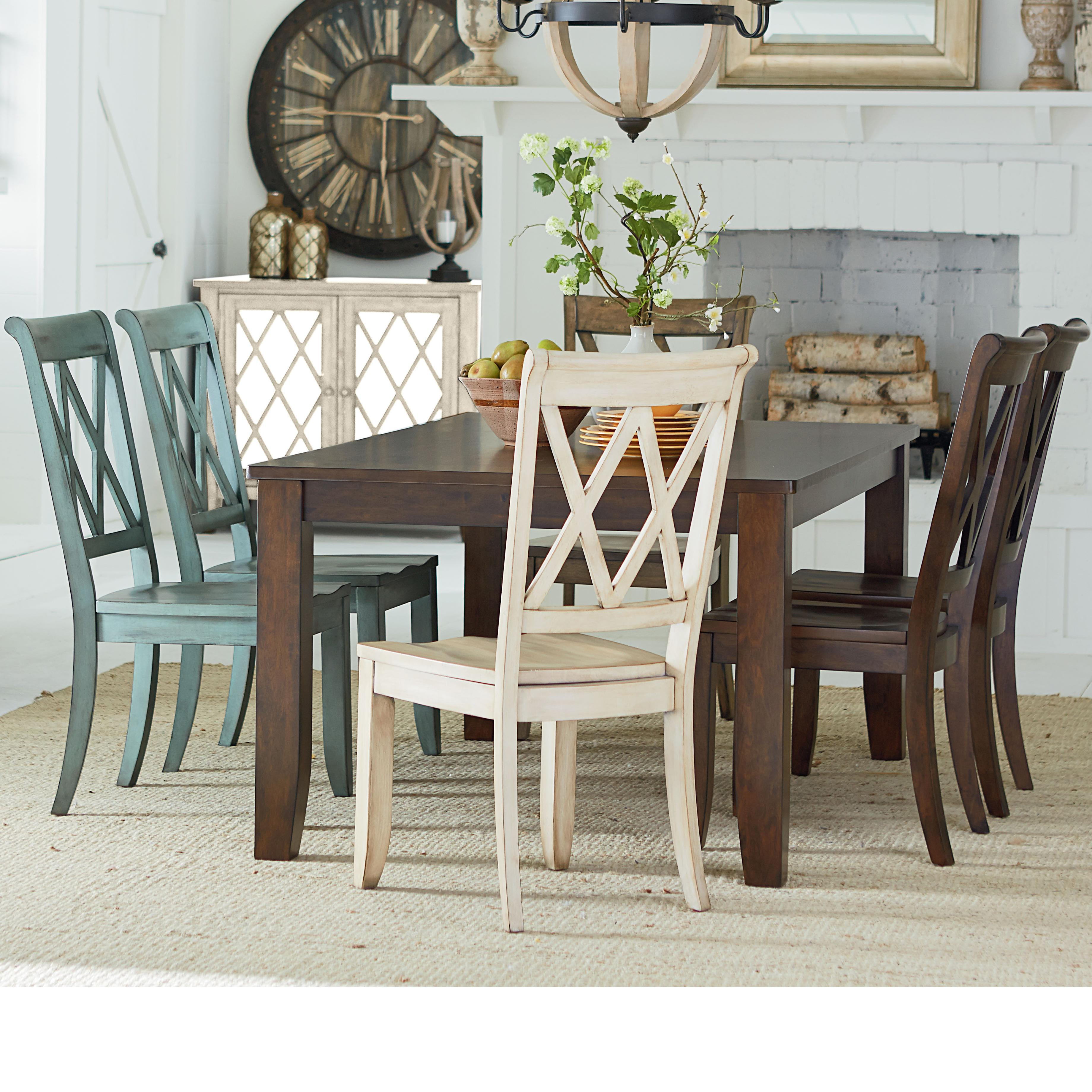 Table and 6 Chair Set by Standard Furniture : Wolf and Gardiner Wolf Furniture