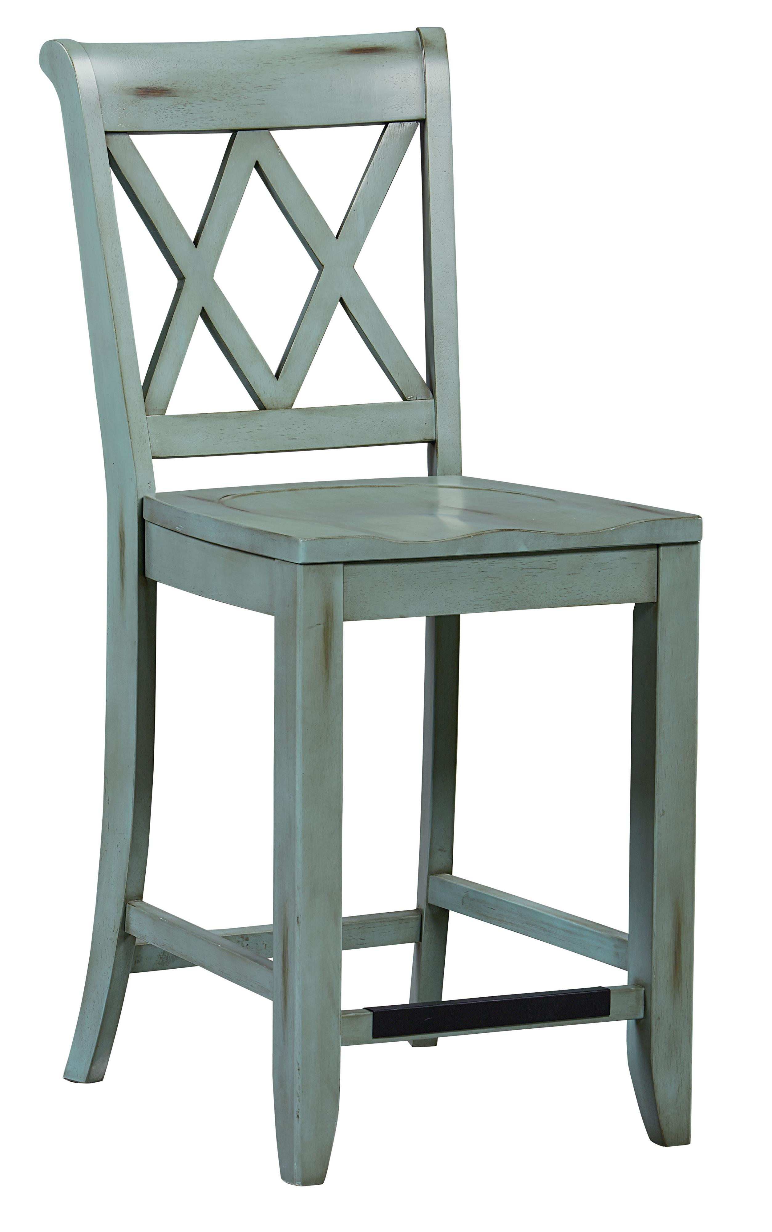 Sensational Vanilla Counter Height Stool With X Back By Standard Cjindustries Chair Design For Home Cjindustriesco