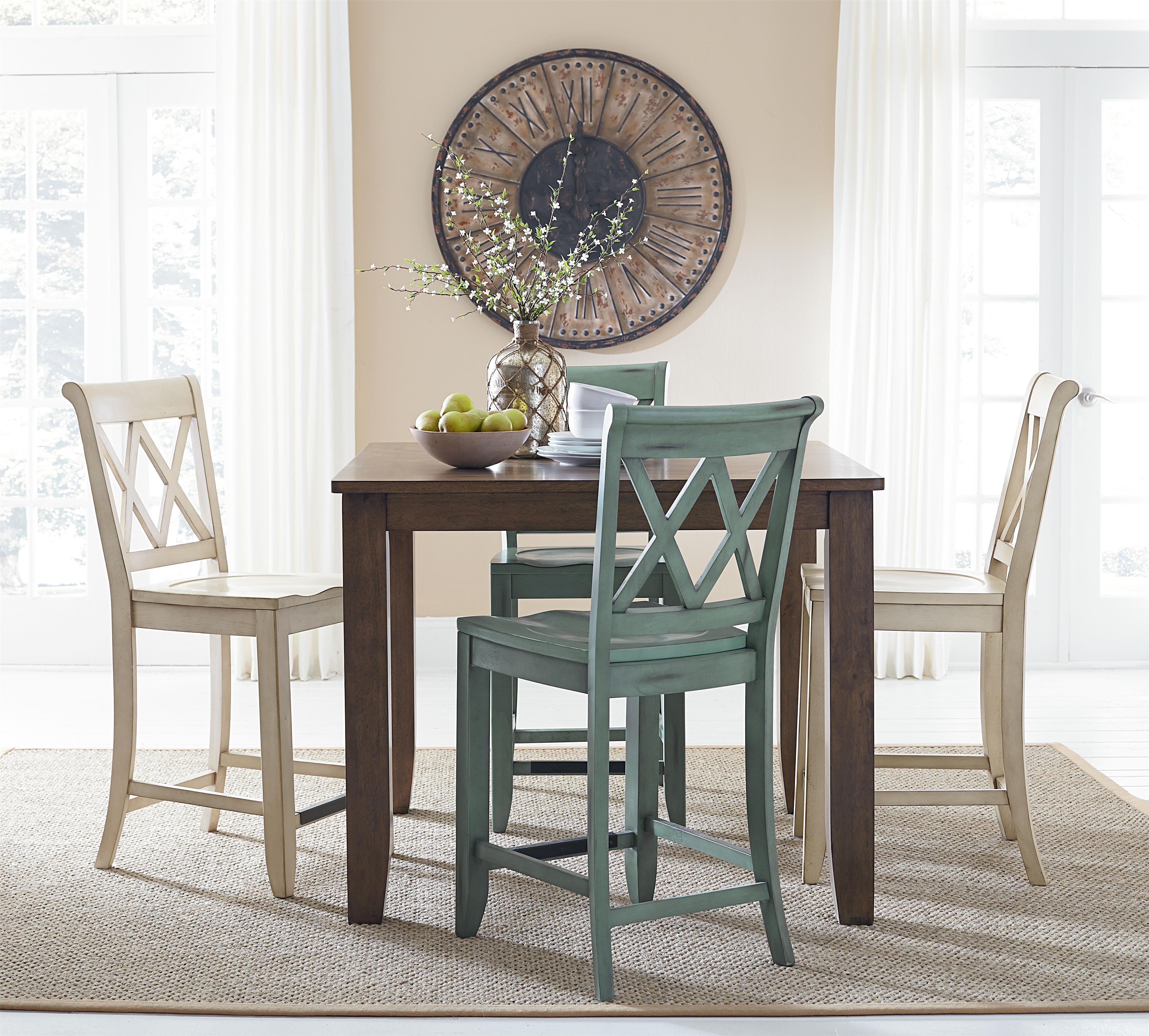 Counter Height Dining Set With Four Chairs By Standard
