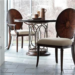 Stanley Furniture Avalon Heights Round Table and Woodback Dining Chair Set