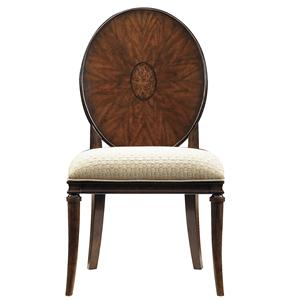 Stanley Furniture Avalon Heights Starburst Wood Back Side Chair