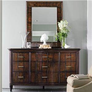 Stanley Furniture Avalon Heights Swingtime Dresser and Landscape Mirror Set