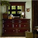Stanley Furniture City Club Barrister Landscape Mirror with Bevel Cut - Shown with Dresser