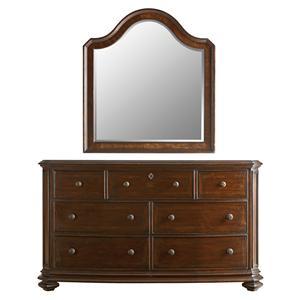 Stanley Furniture The Classic Portfolio Continental Triple Dresser & Landscape Mirror